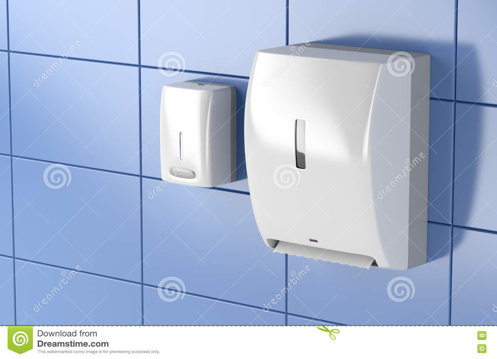 Distributeurs de serviette de papier et de savon
