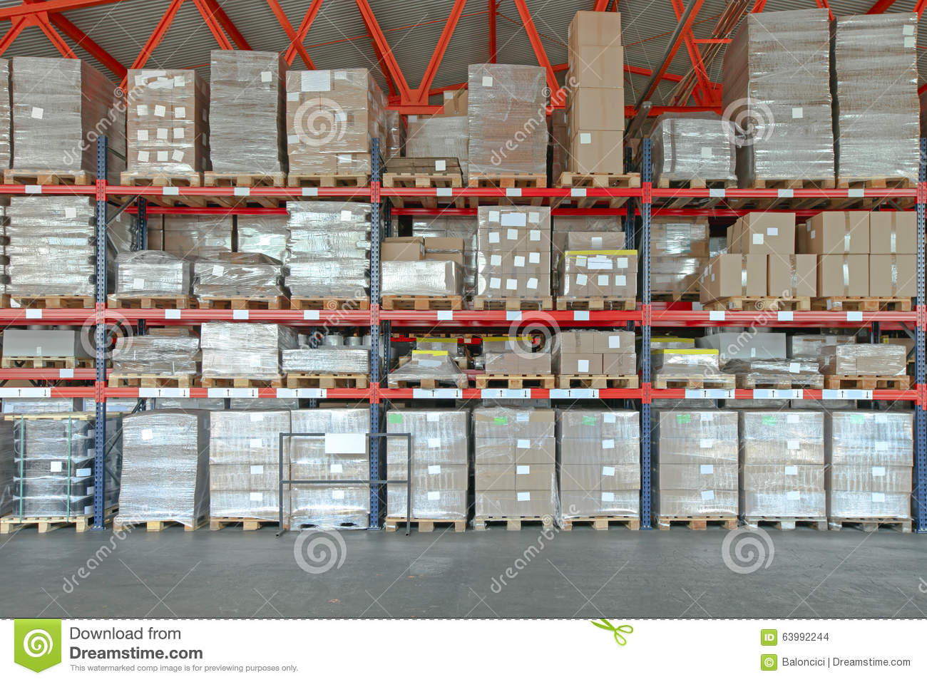 Distribution warehouse stock photo image 63992244 for Warehouse racking layout software free