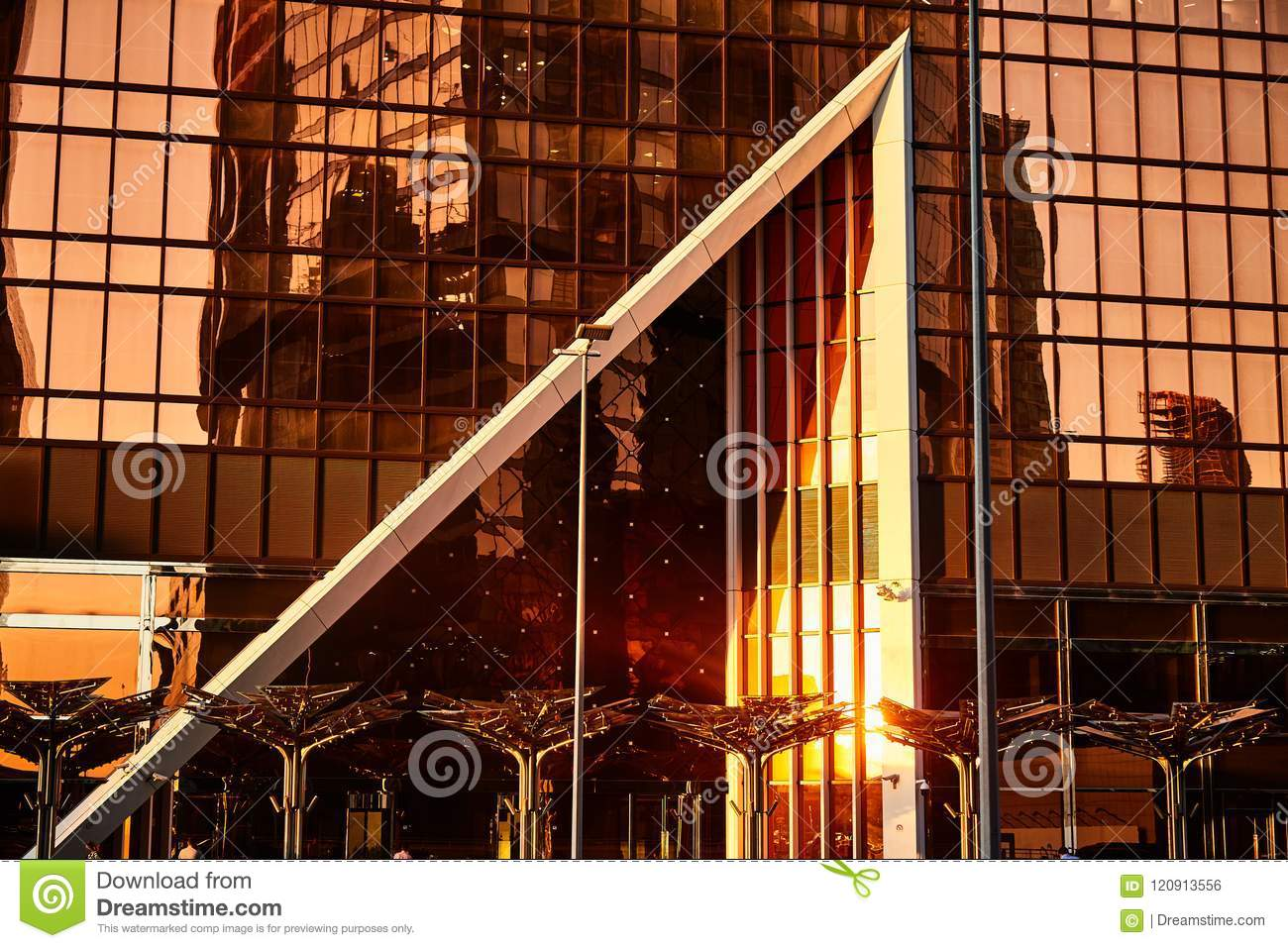 District Moscow City  Business Centre  Stock Photo - Image of design