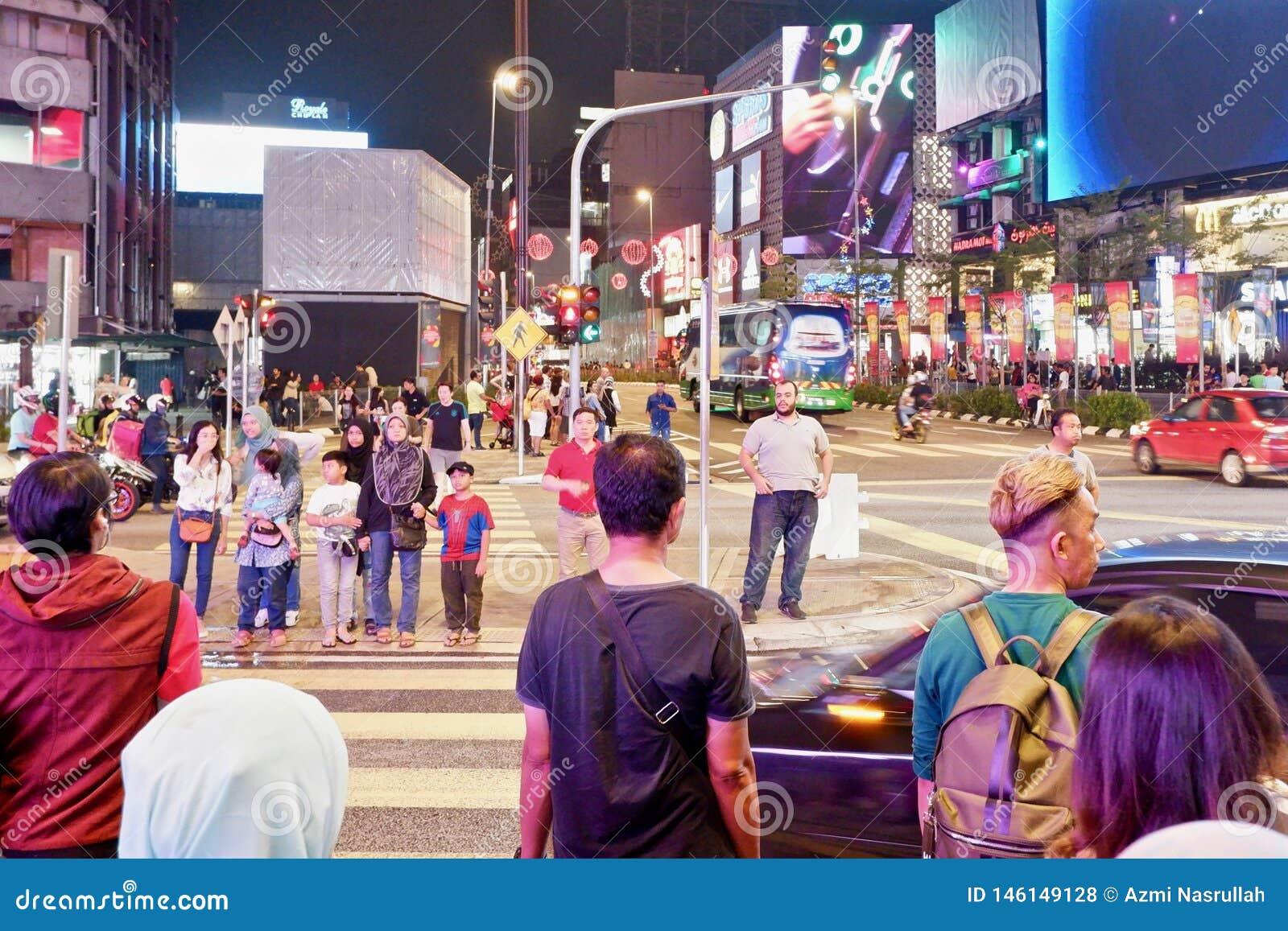 Distrito comercial em Kuala Lumpur