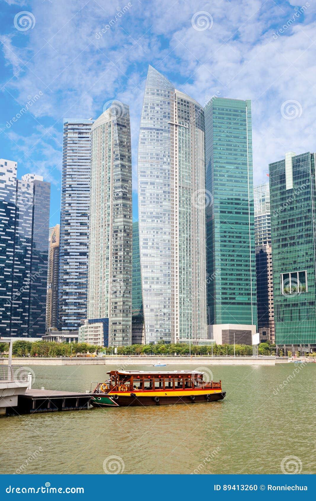 Distrito financeiro de Singapura em Marina Bay