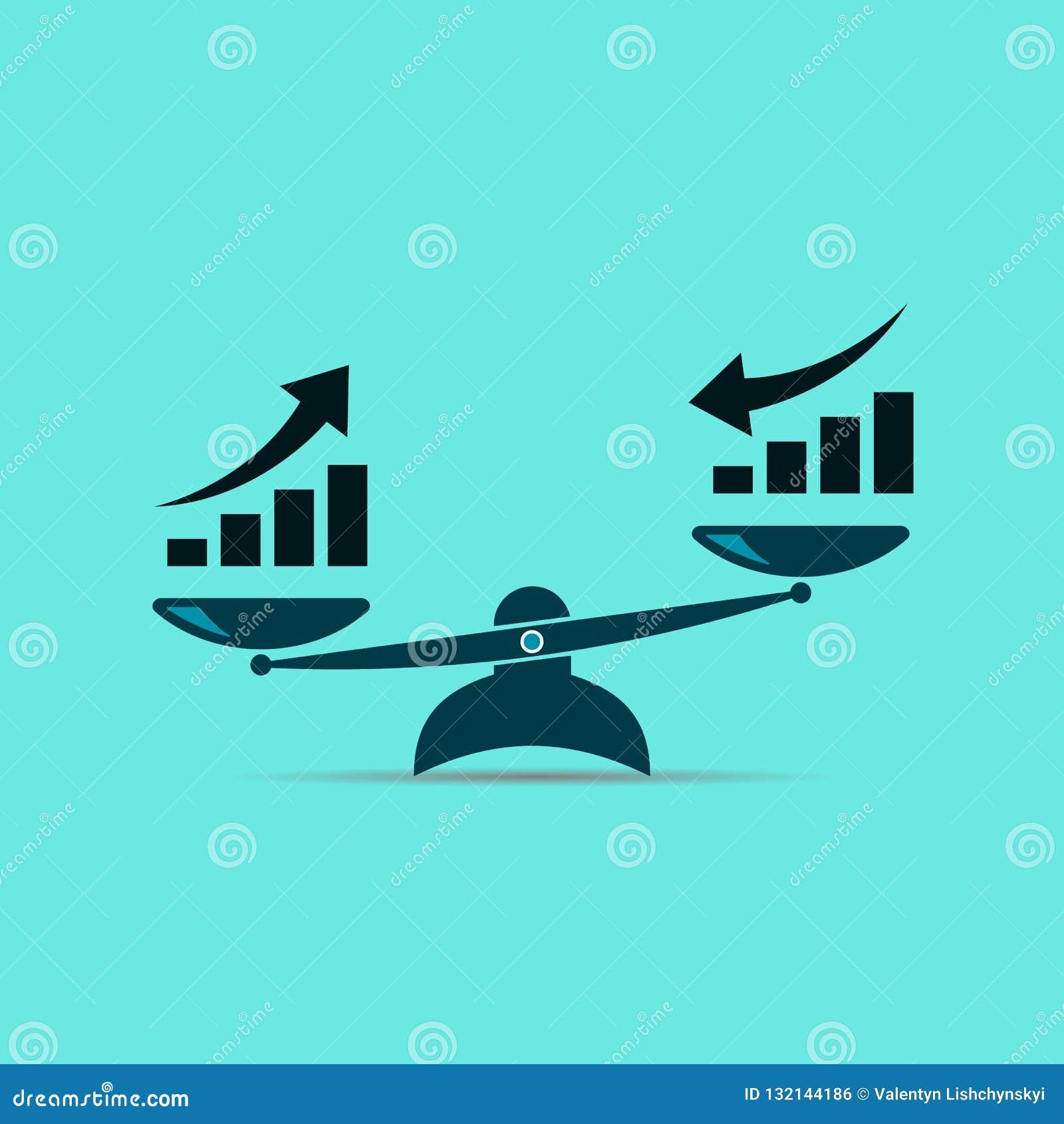 Dit is dossier van EPS10-formaat de groei omhoog en de groei neer Vector