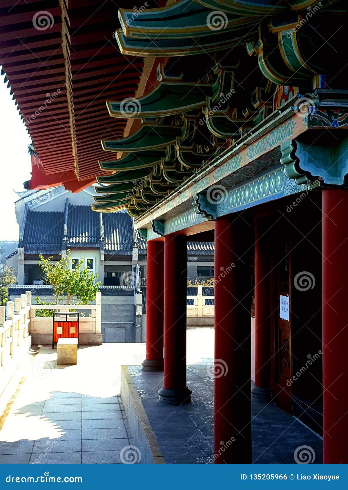 Dit is het landschap van de oude de bouwstraat in Huizhou, China