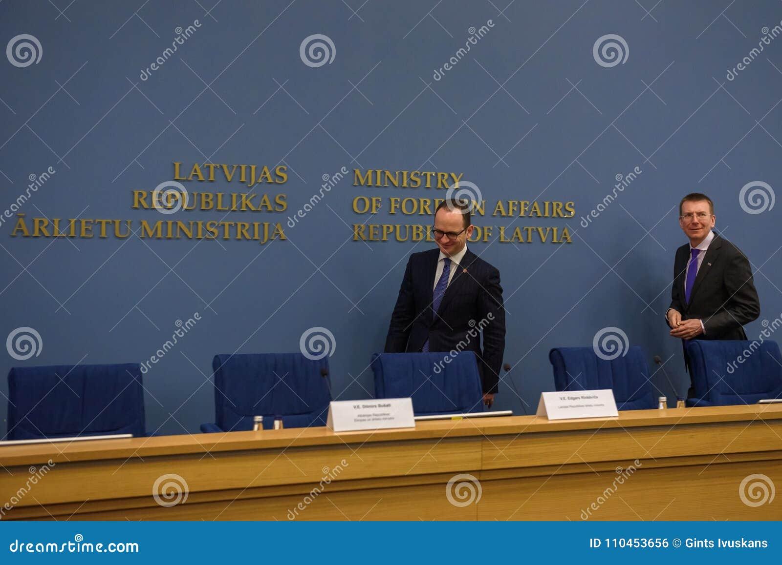 Ditmir Bushati och Edgars Rinkevics