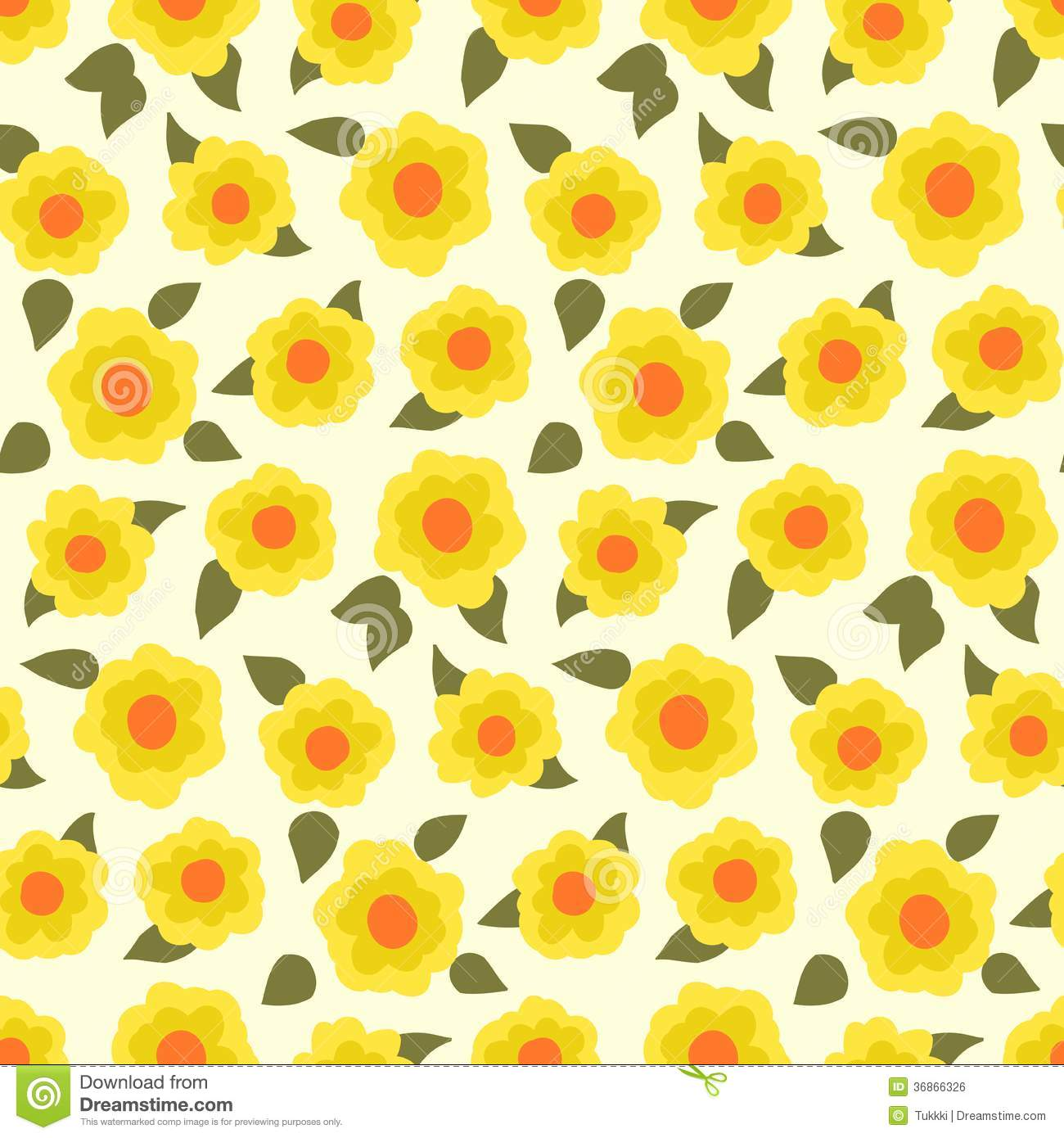Ditsy Floral Pattern With Small Daffodils Stock Vector ...