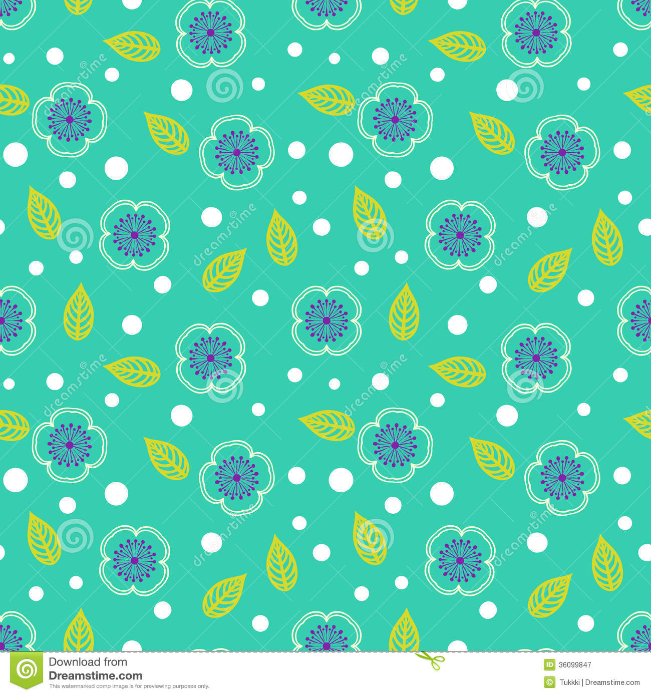 Ditsy Pattern With Small White Sakura Flowers Stock Vector