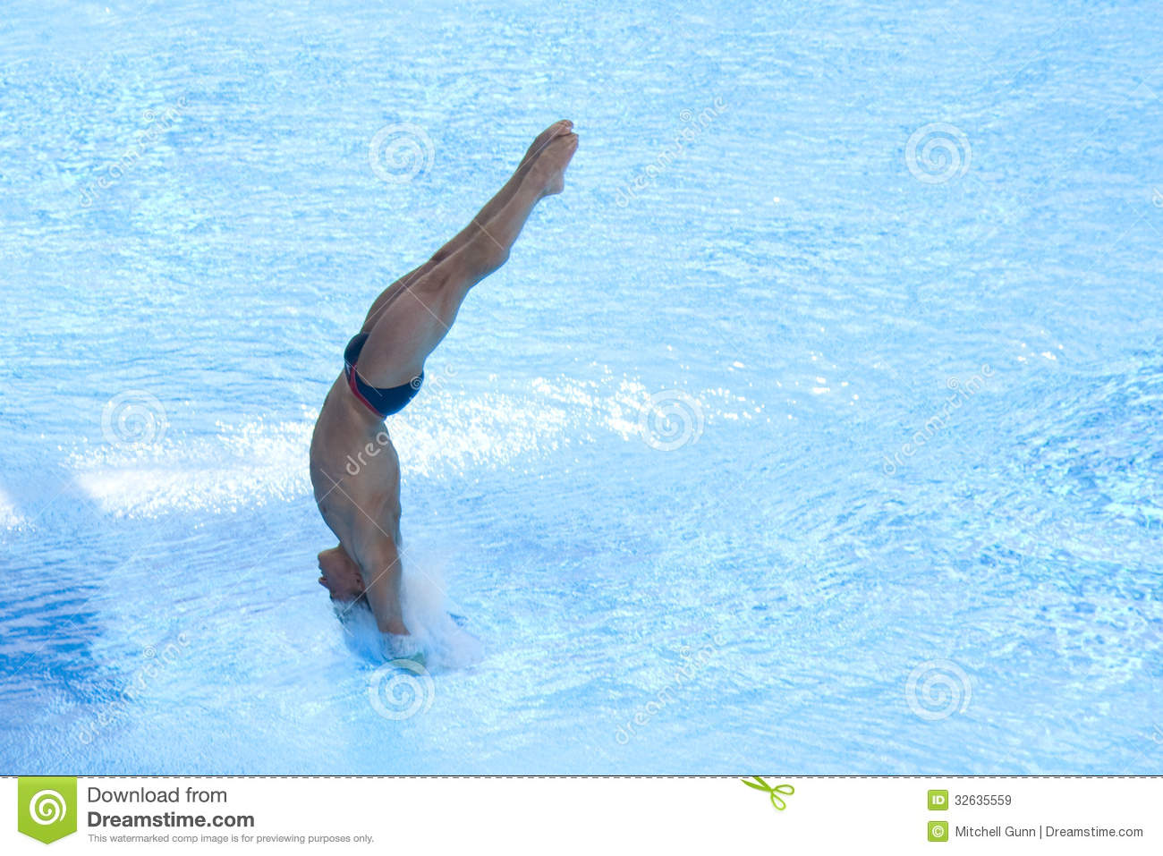 DIV: Final 3m Men's Diving Competition Editorial Stock Image