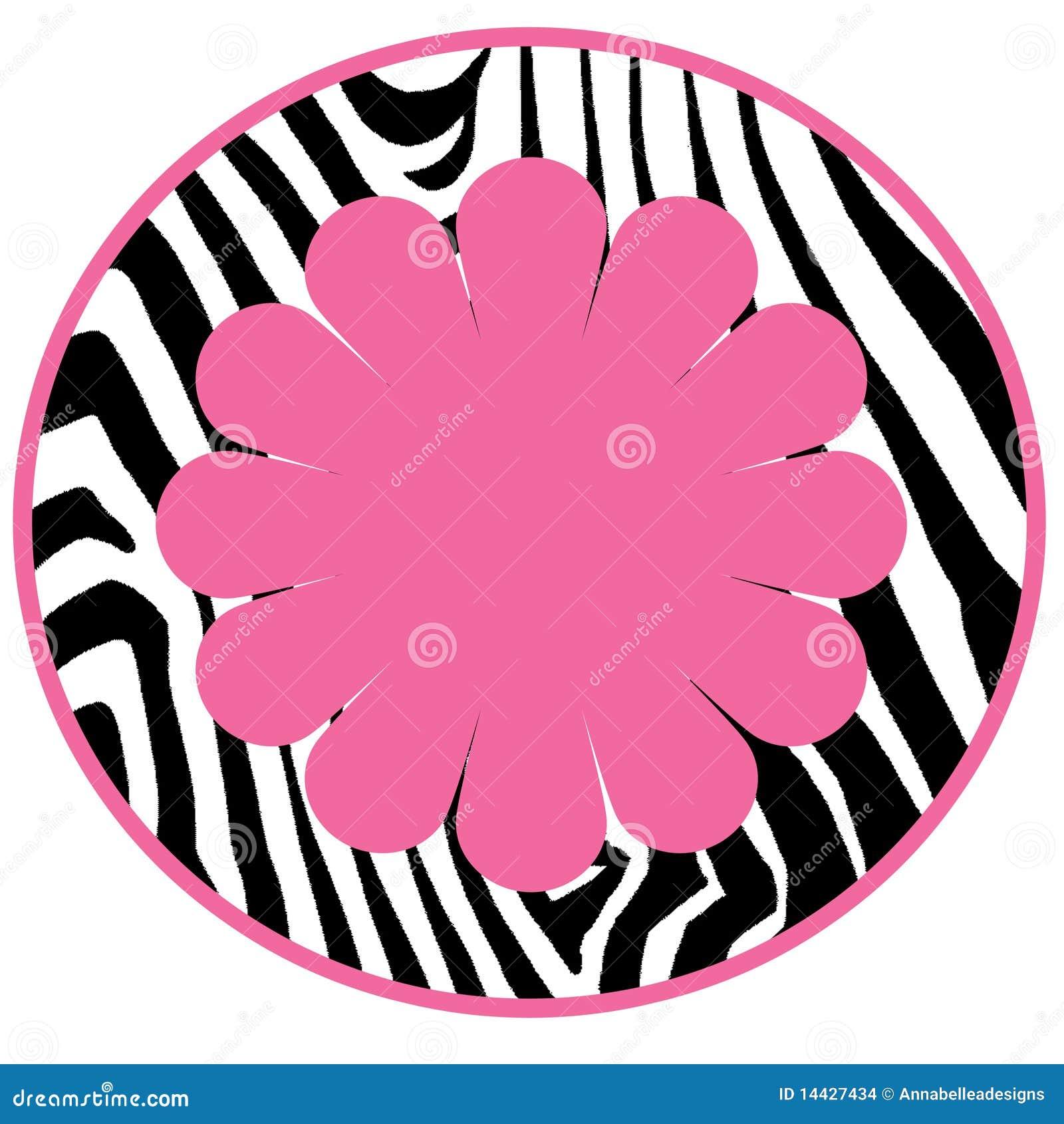 Diva Girl Zebra Background Circle Stock Images Image