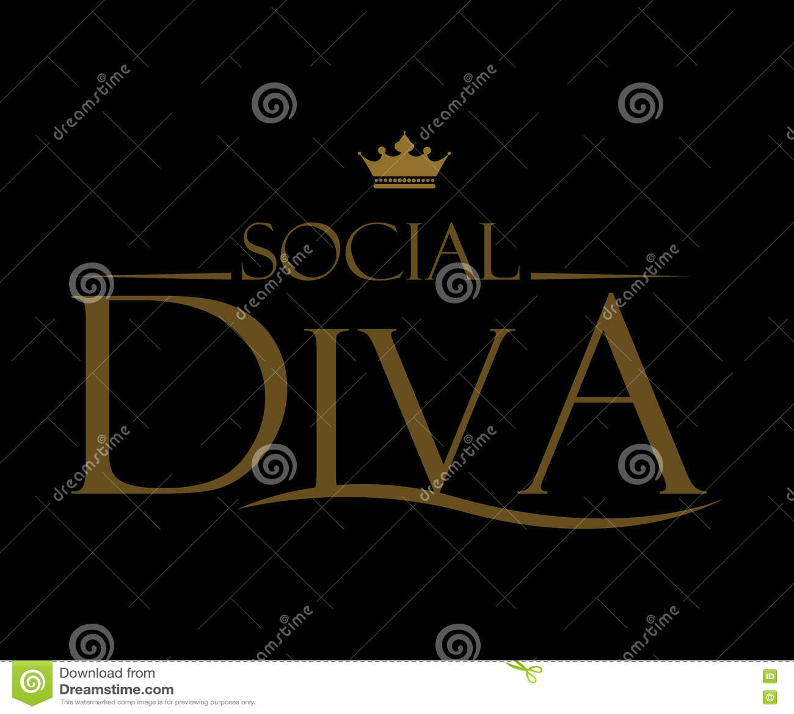 Progressive Logo Design For You Choose The Text Style To: Diva Logo Design Cartoon Vector