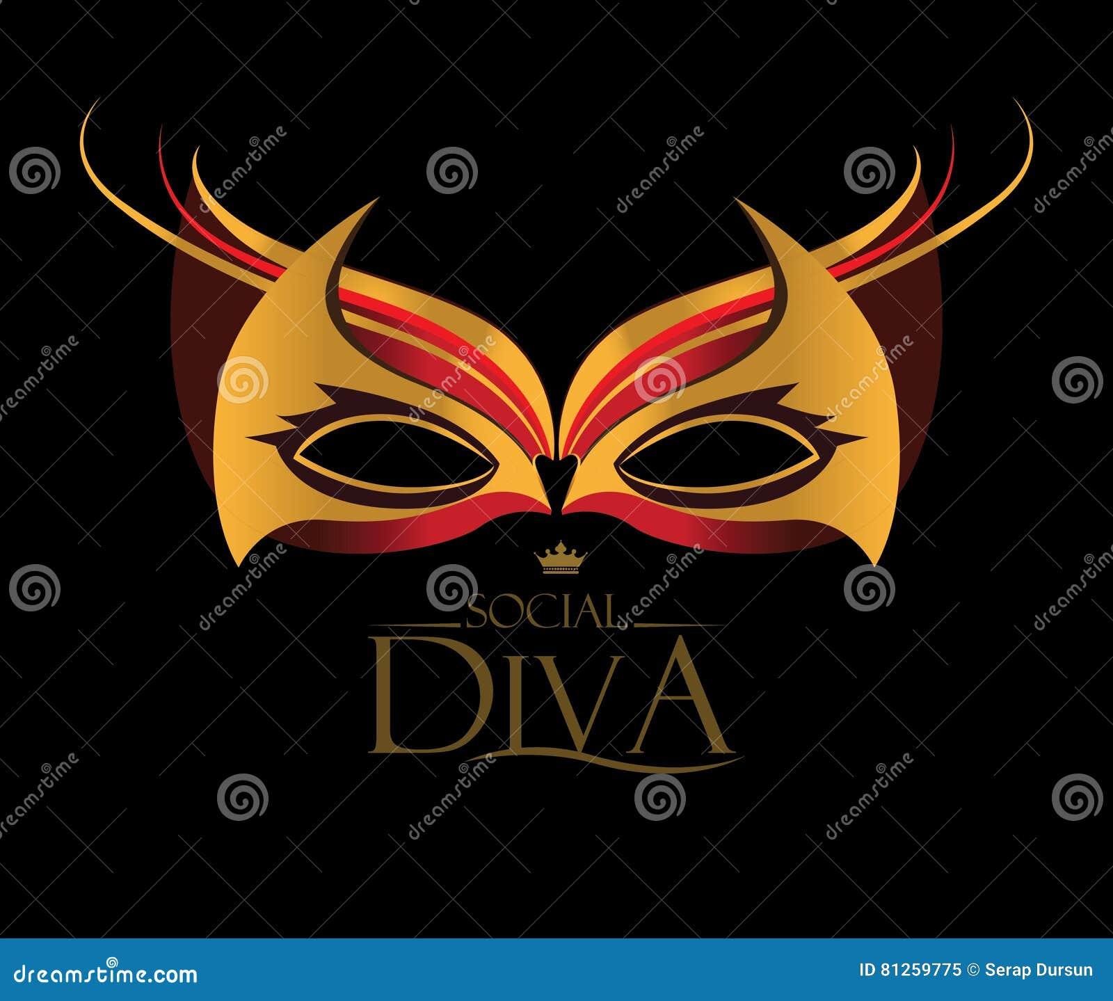 Diva Design: Diva Logo Design Cartoon Vector