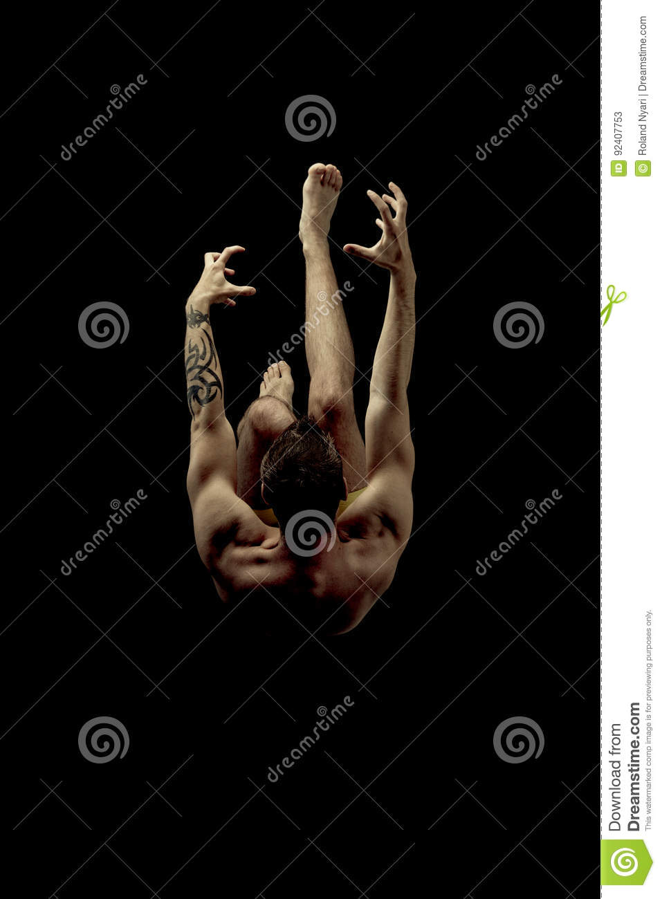 Download Dive, falling. stock image. Image of falling, casual - 92407753