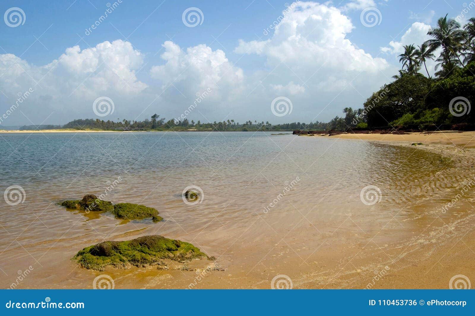 Diveagar strand, Maharashtra, Indien