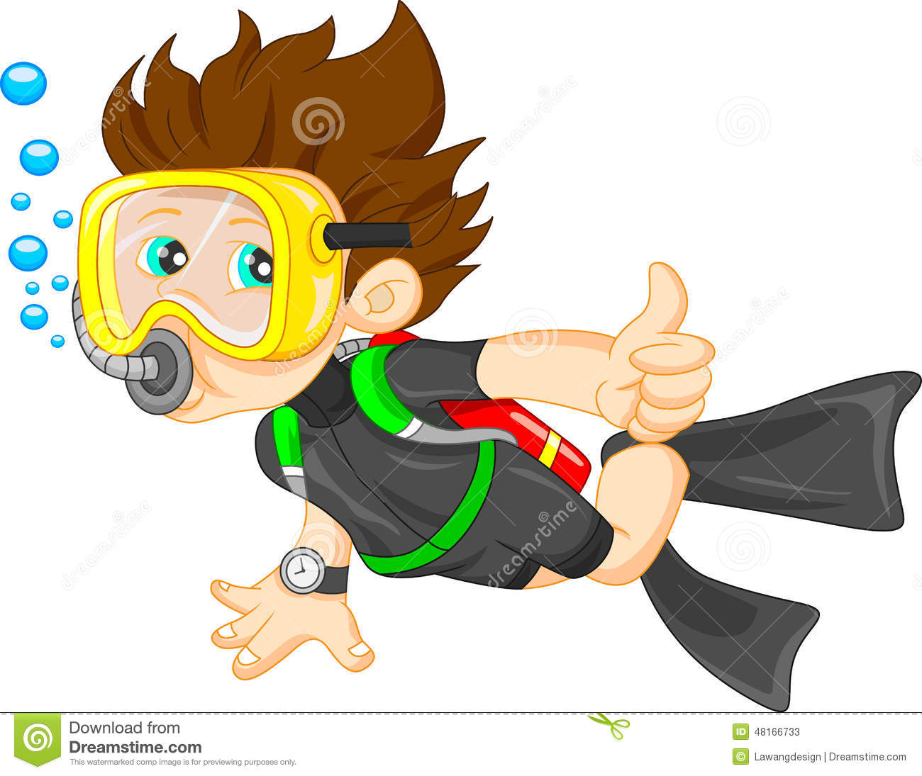 diver boy thumb up stock vector image 48166733 driver clipart divider clip art images