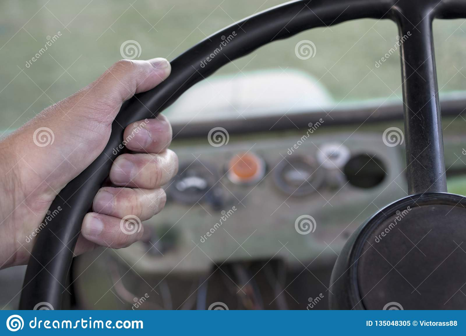 Driving retro transport stock image  Image of grip, driving - 135048305