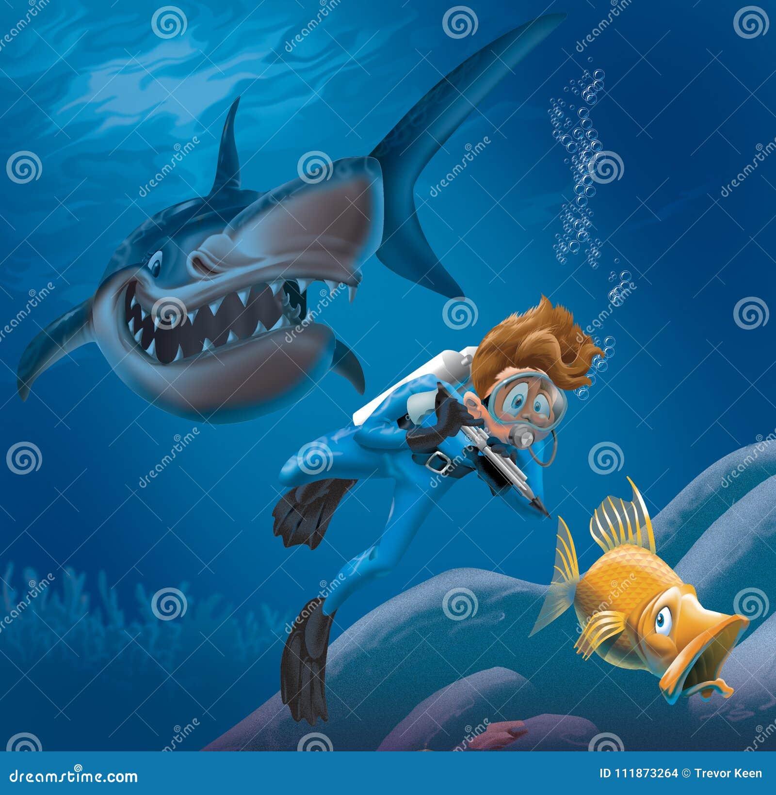 Shark stock illustrations 13 591 shark stock for Dream about fish