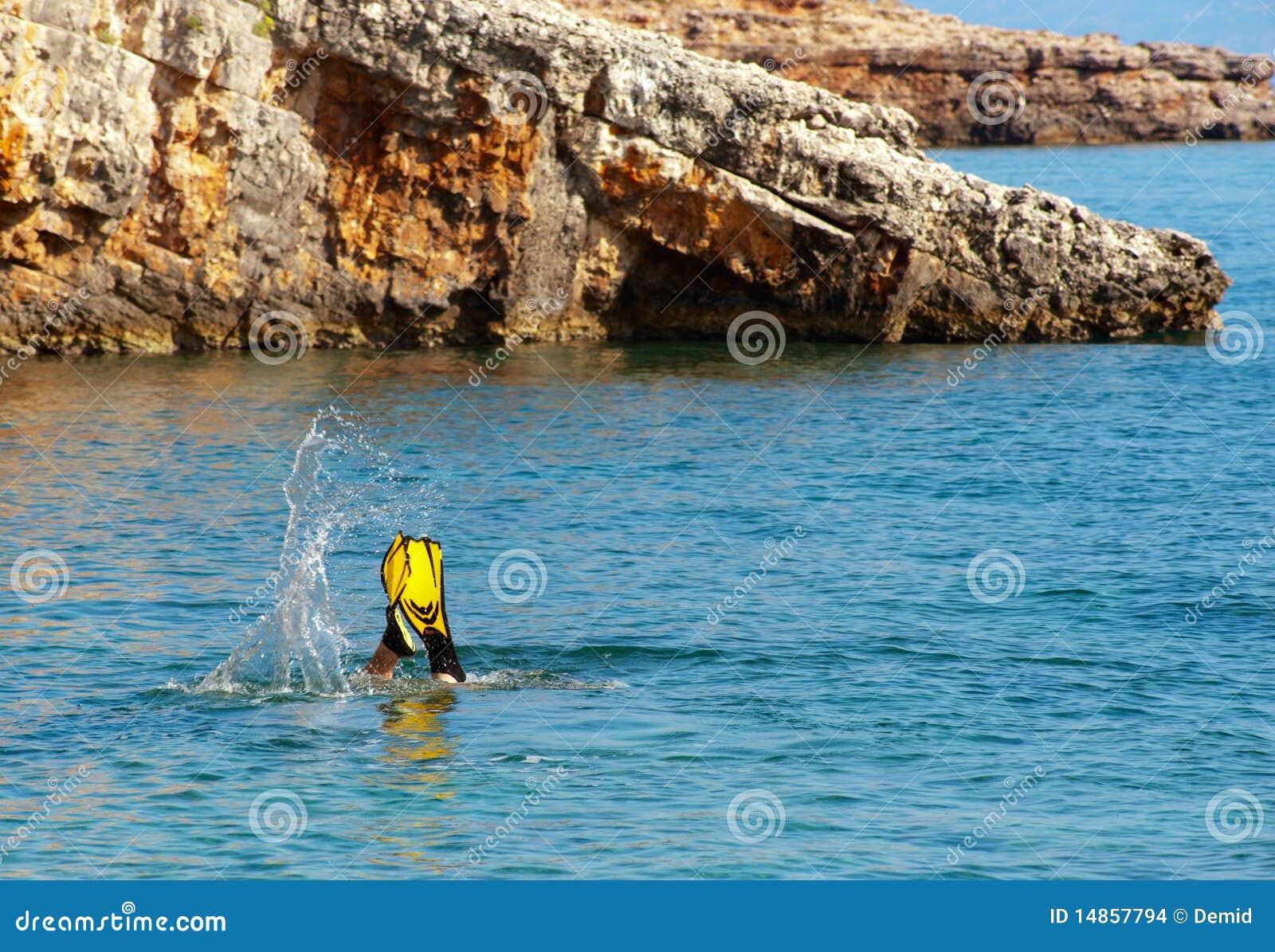 Diver on Zakynthos.