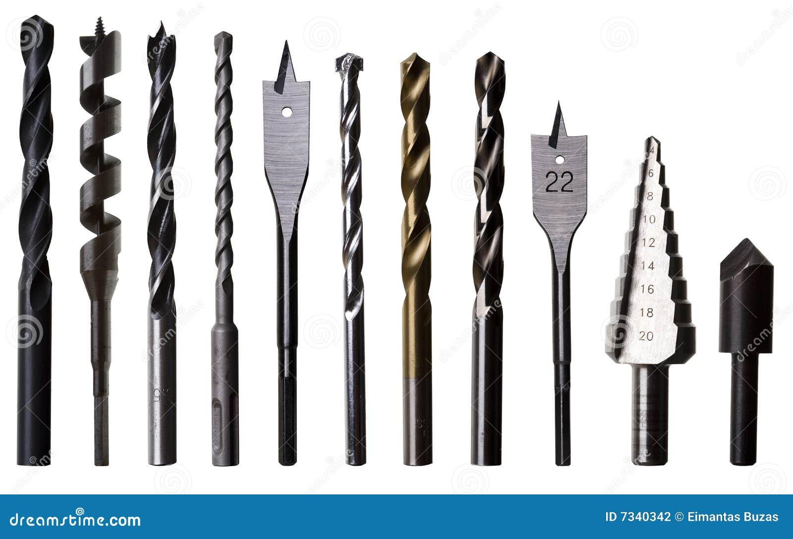 Divers bits de foret pour le métal, le bois et la maçonnerie