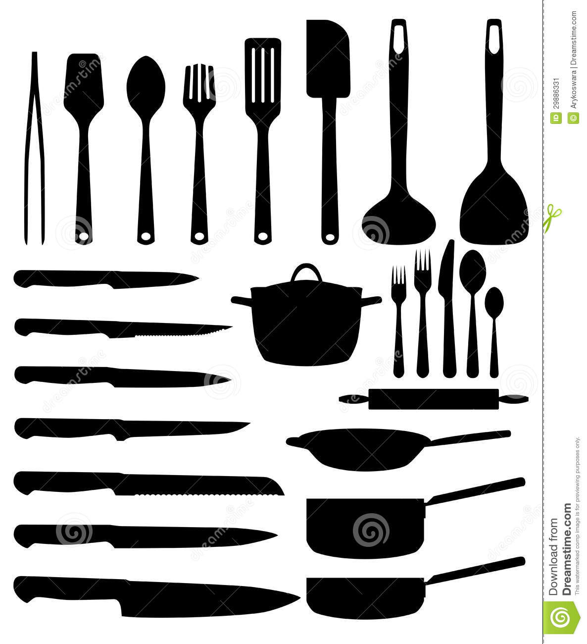 Ustensile de cuisine image stock image 29886331 for Achat d ustensile de cuisine