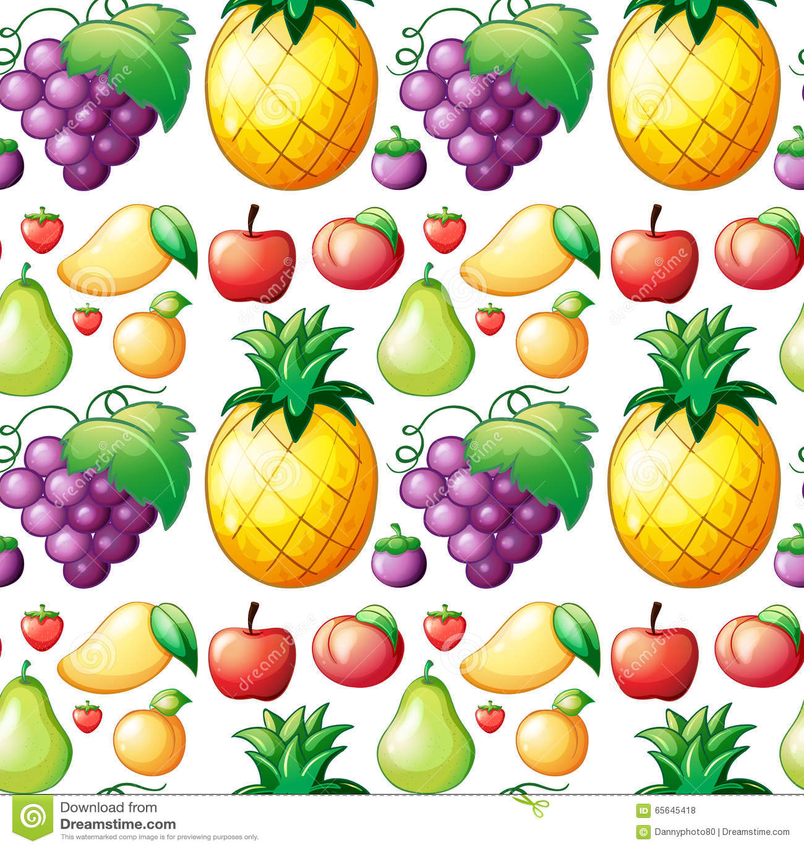 Divers genre sans couture de fruits