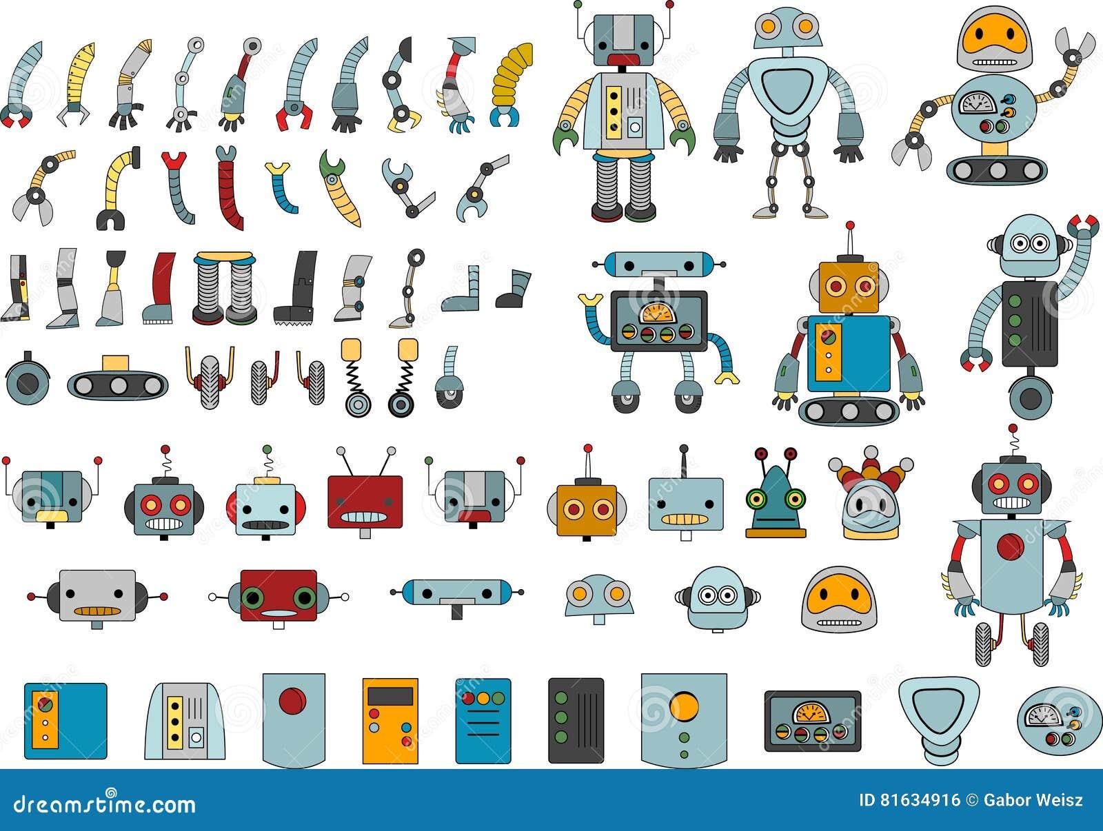 Divers robots et pièces de rechange pour votre propre robot
