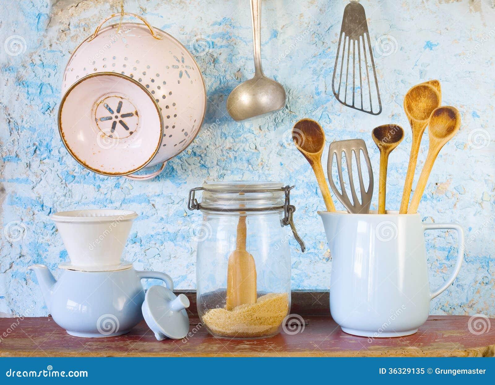 Divers Ustensiles De Cuisine De Vintage Photo Libre De Droits Image 36329135