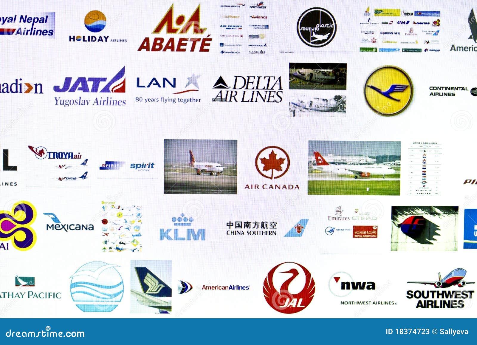 Diversa insignia de las líneas aéreas