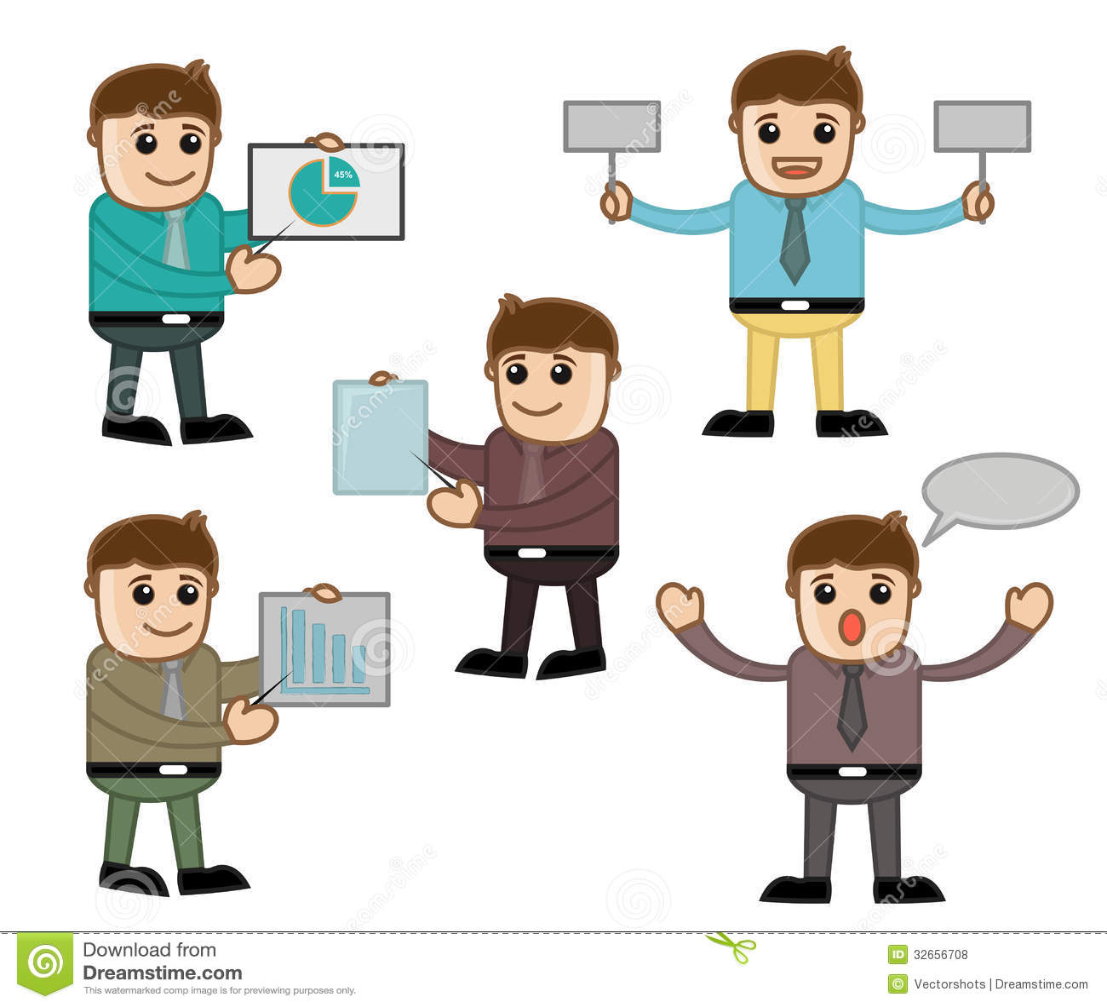 Diversas Actitudes Oficina Y Hombres De Negocios Del