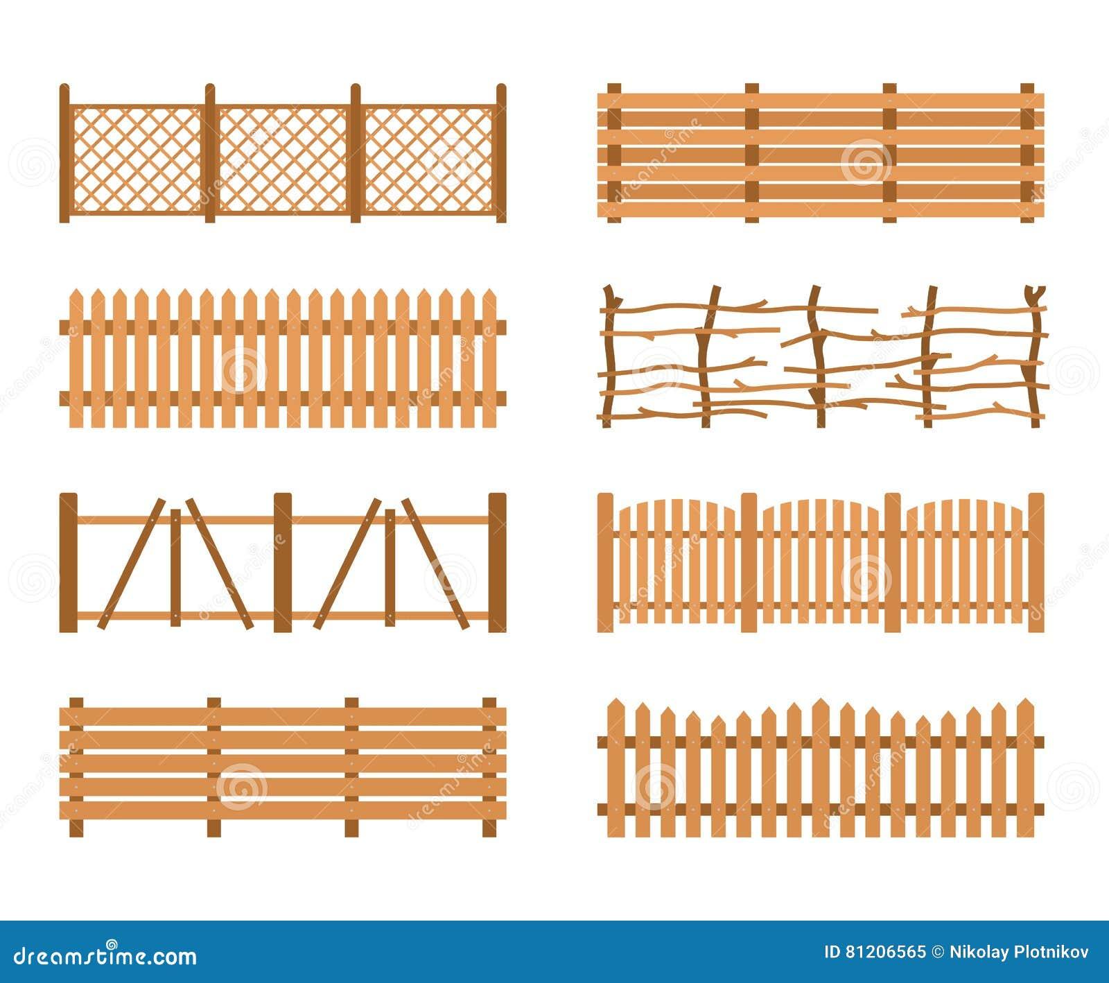 Diversas cercas de madera determinadas del jard n la - Cercas para jardin ...