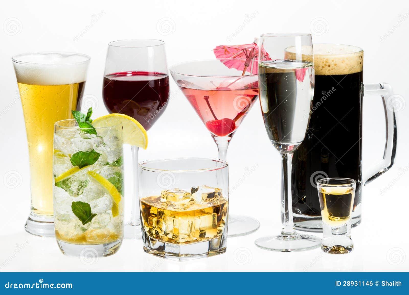 Diversas clases de alcohol