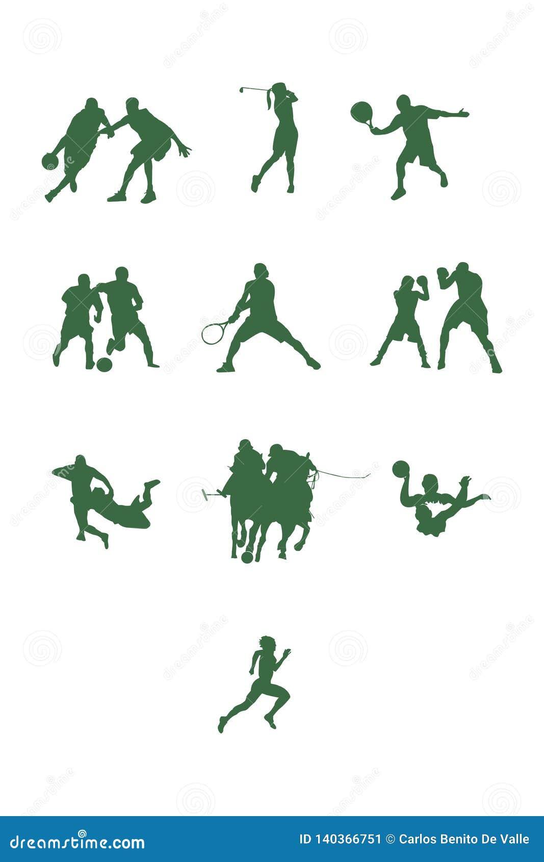 Diversas formas del deporte en verde