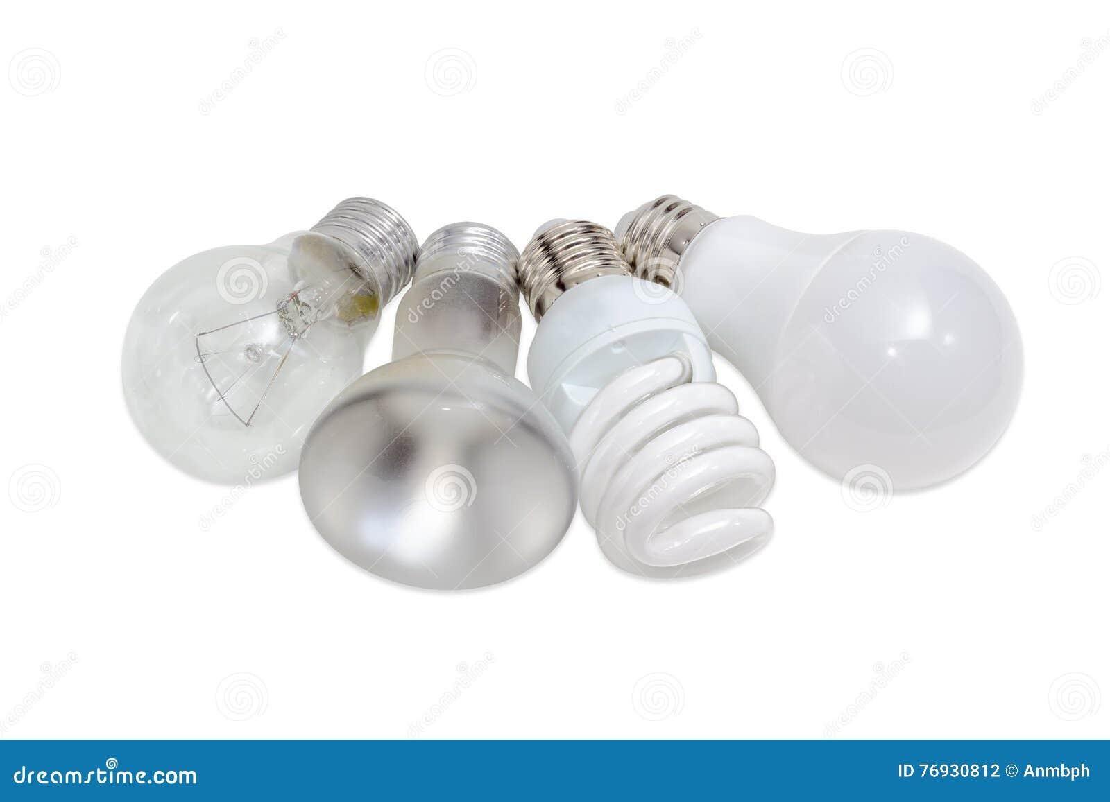 diversas lmparas elctricas de diversos tipos de iluminacin elctrica foto de archivo