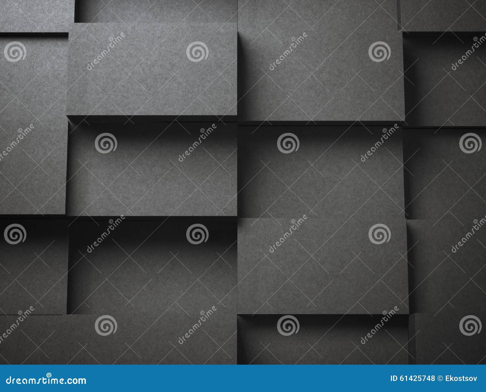 Diversas pilas de tarjetas de visita en blanco negras