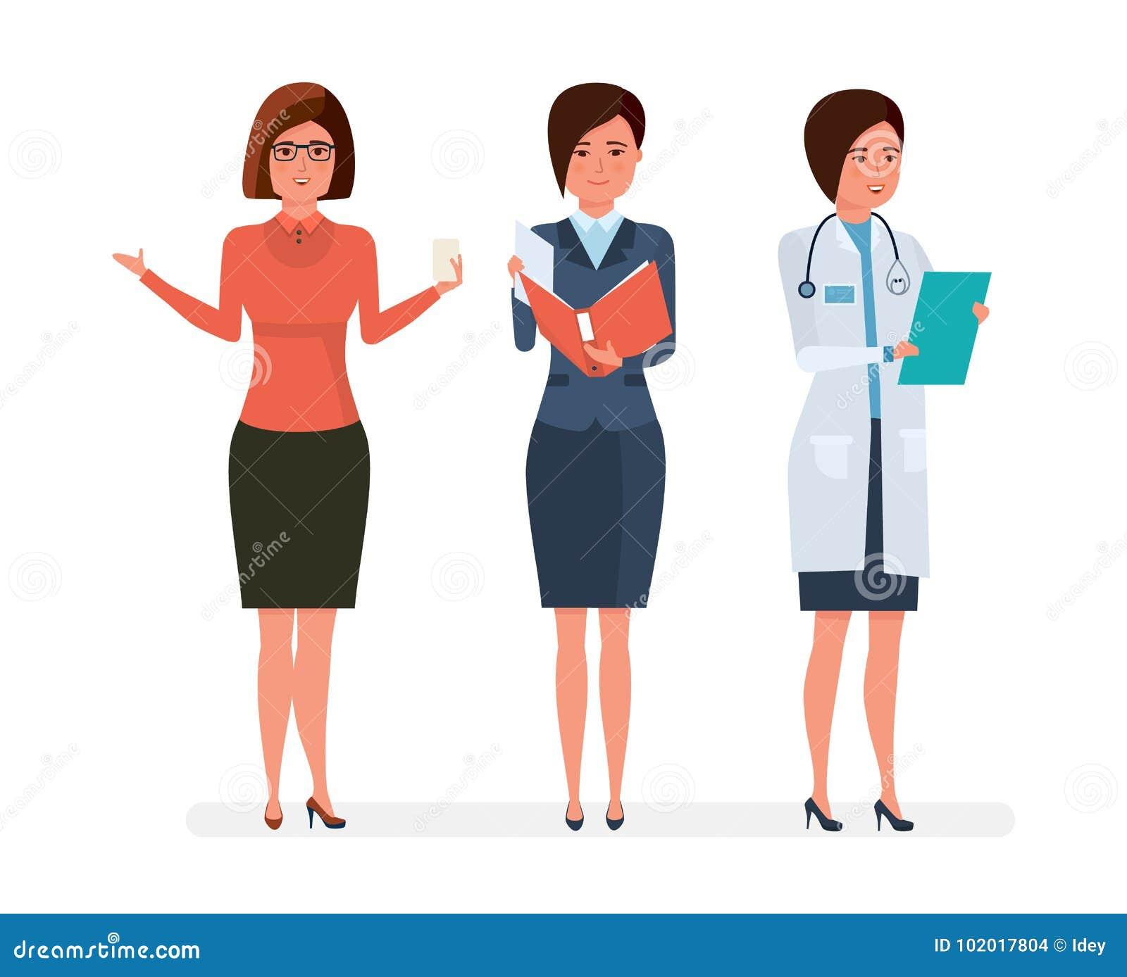 Diversas Profesiones Modernas Del S De Las Mujeres Profesor