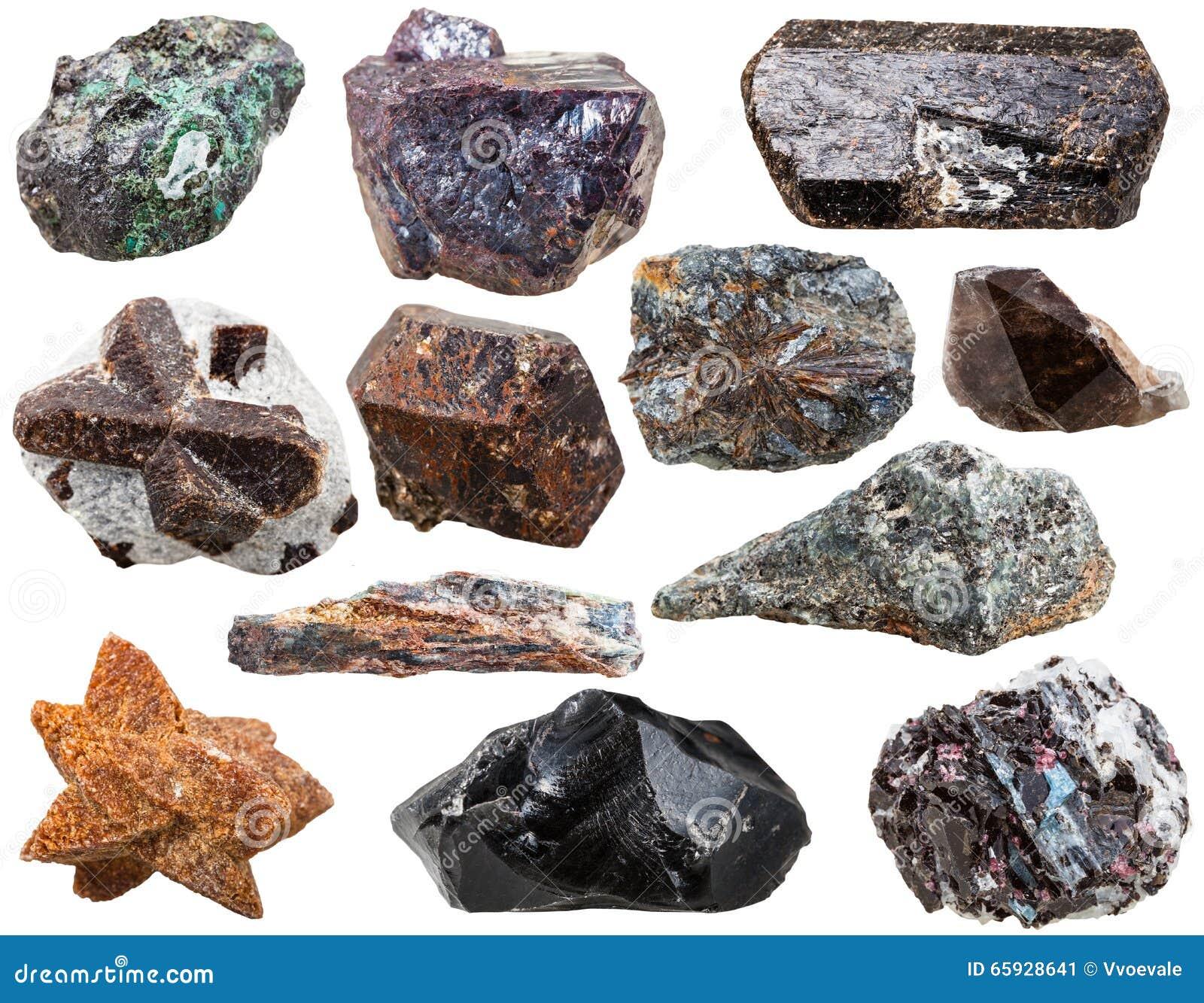 Diversas rocas y piedras naturales aisladas imagen de for Piedras naturales