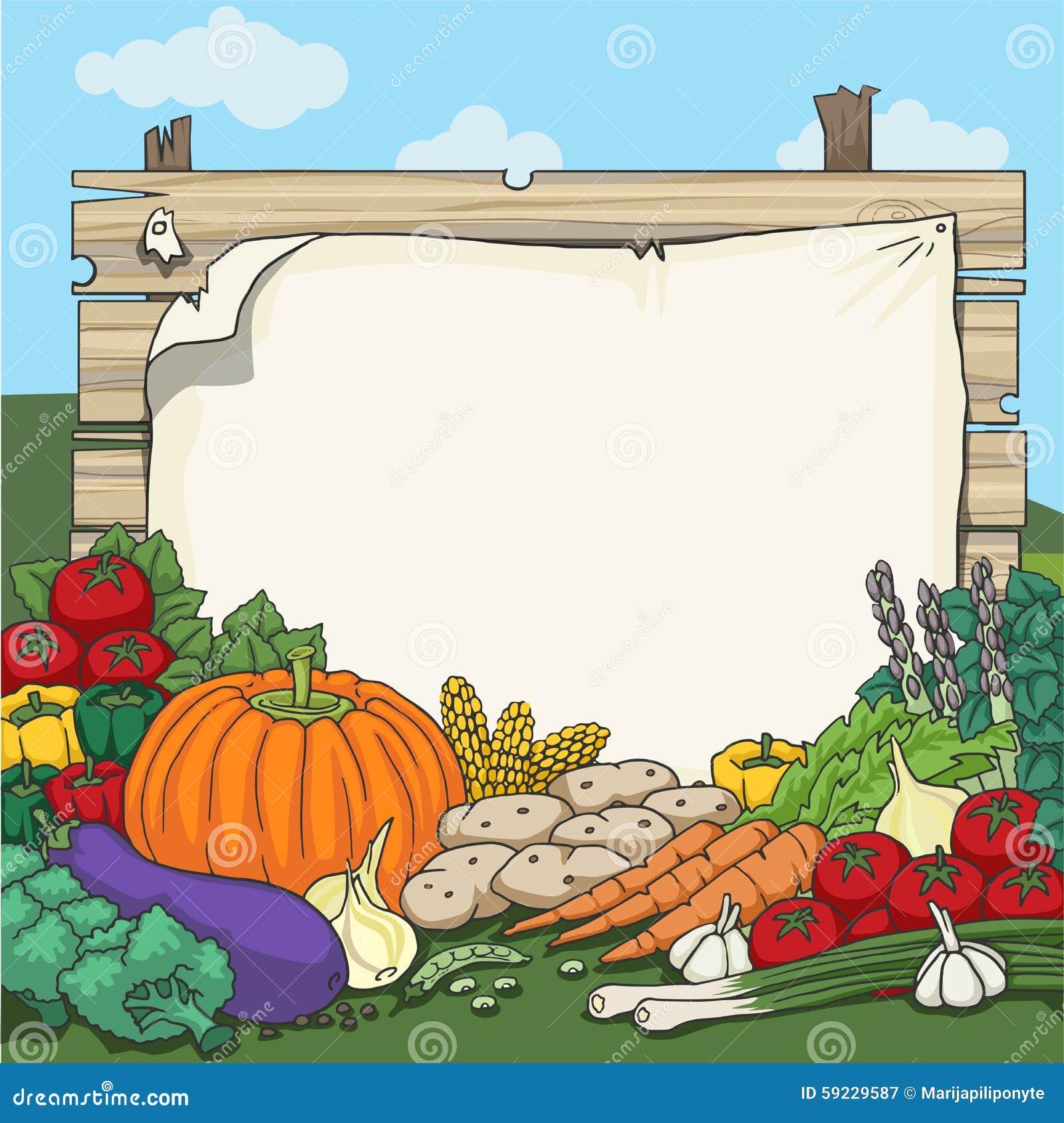 Download Diversas verduras frescas ilustración del vector. Ilustración de seta - 59229587