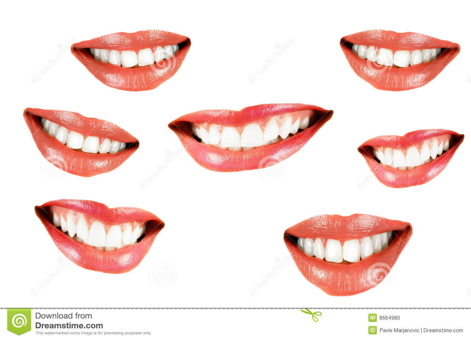 Diverse bouche smilling de femmes