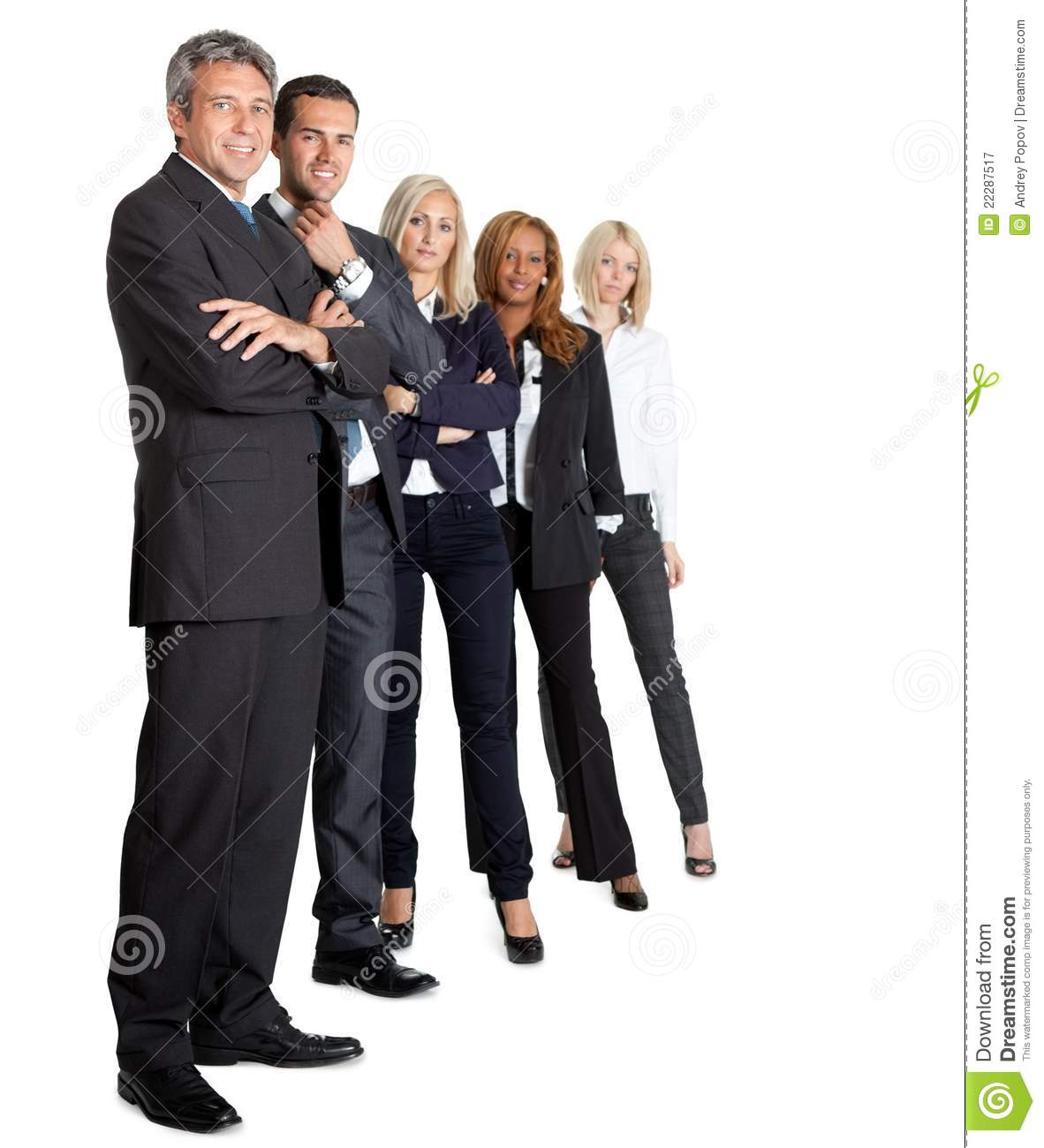 Diverse Business Group Standing Together Royalty Free