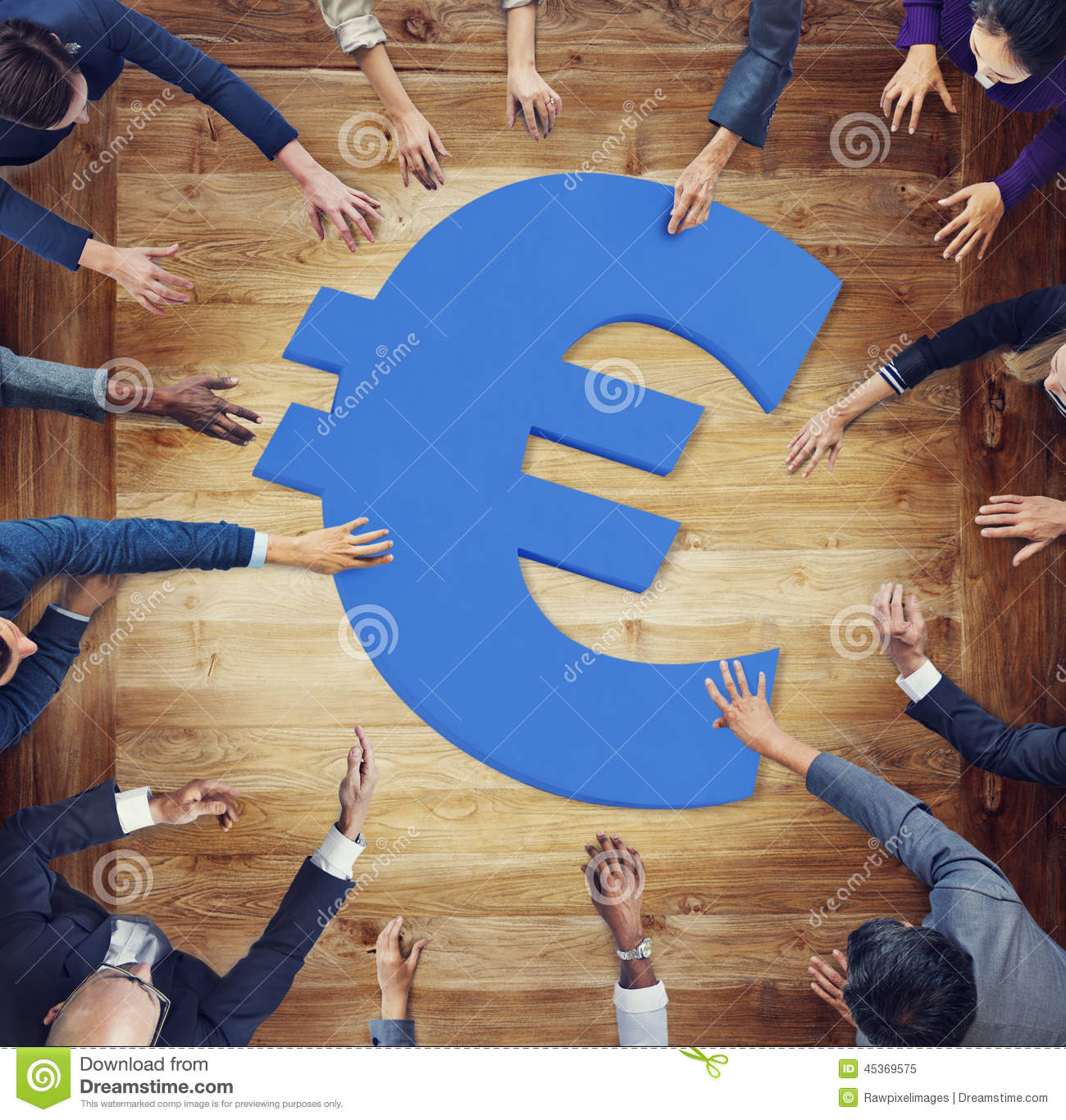 Diverse Business People Aroung Currency Symbol