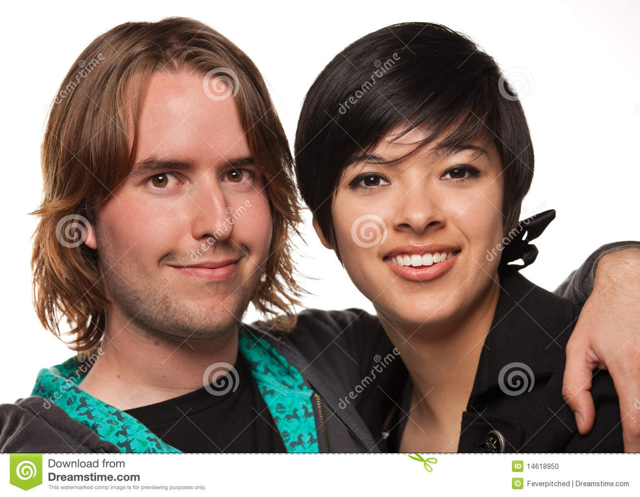 Diverse Caucasian Male and Multiethnic Female