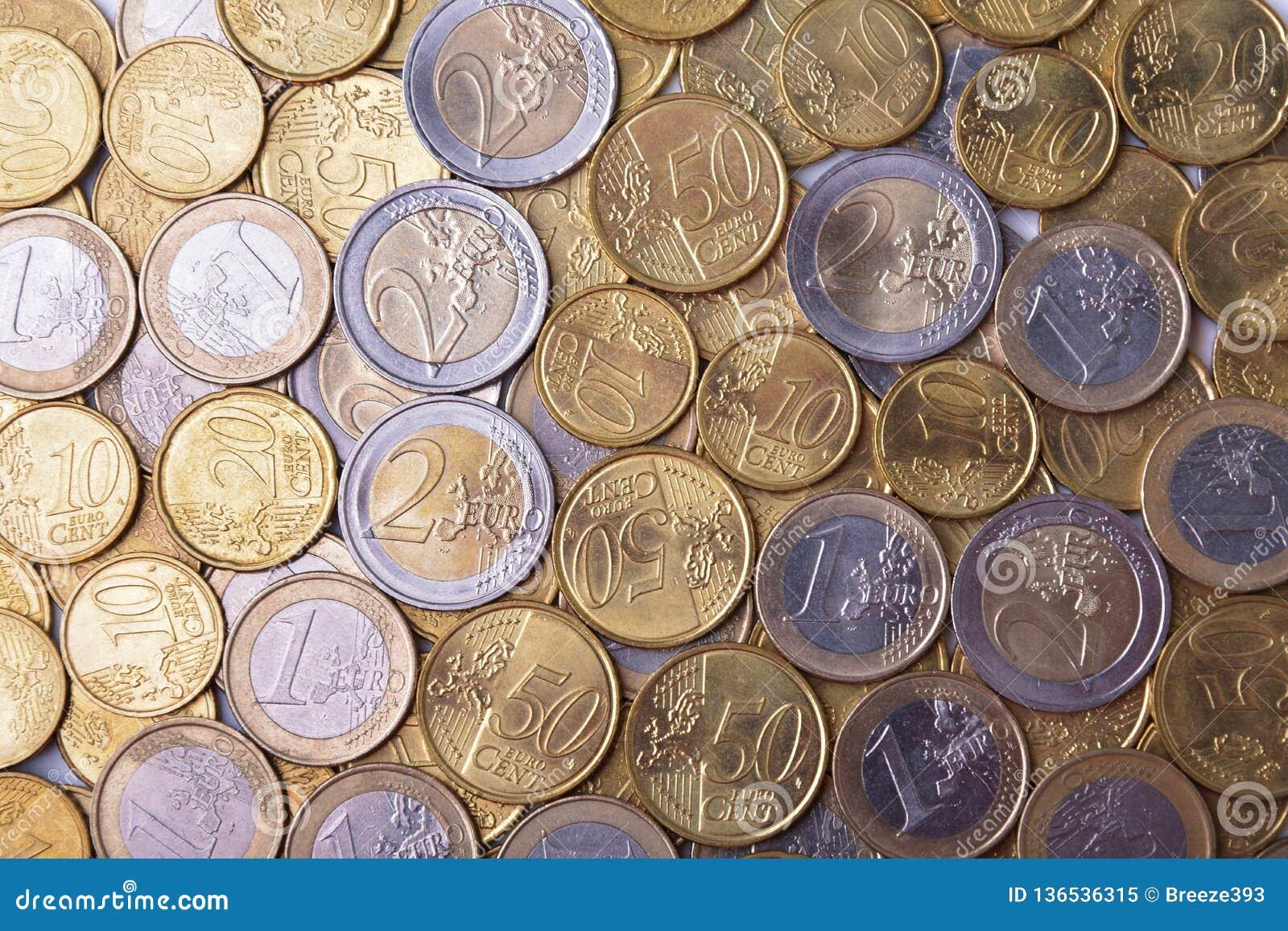 Diverse euro muntstukken