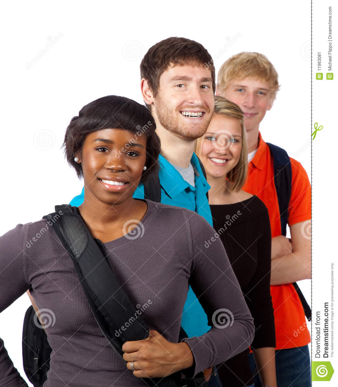 Diverse Group Of College Students Stock Image Image Of