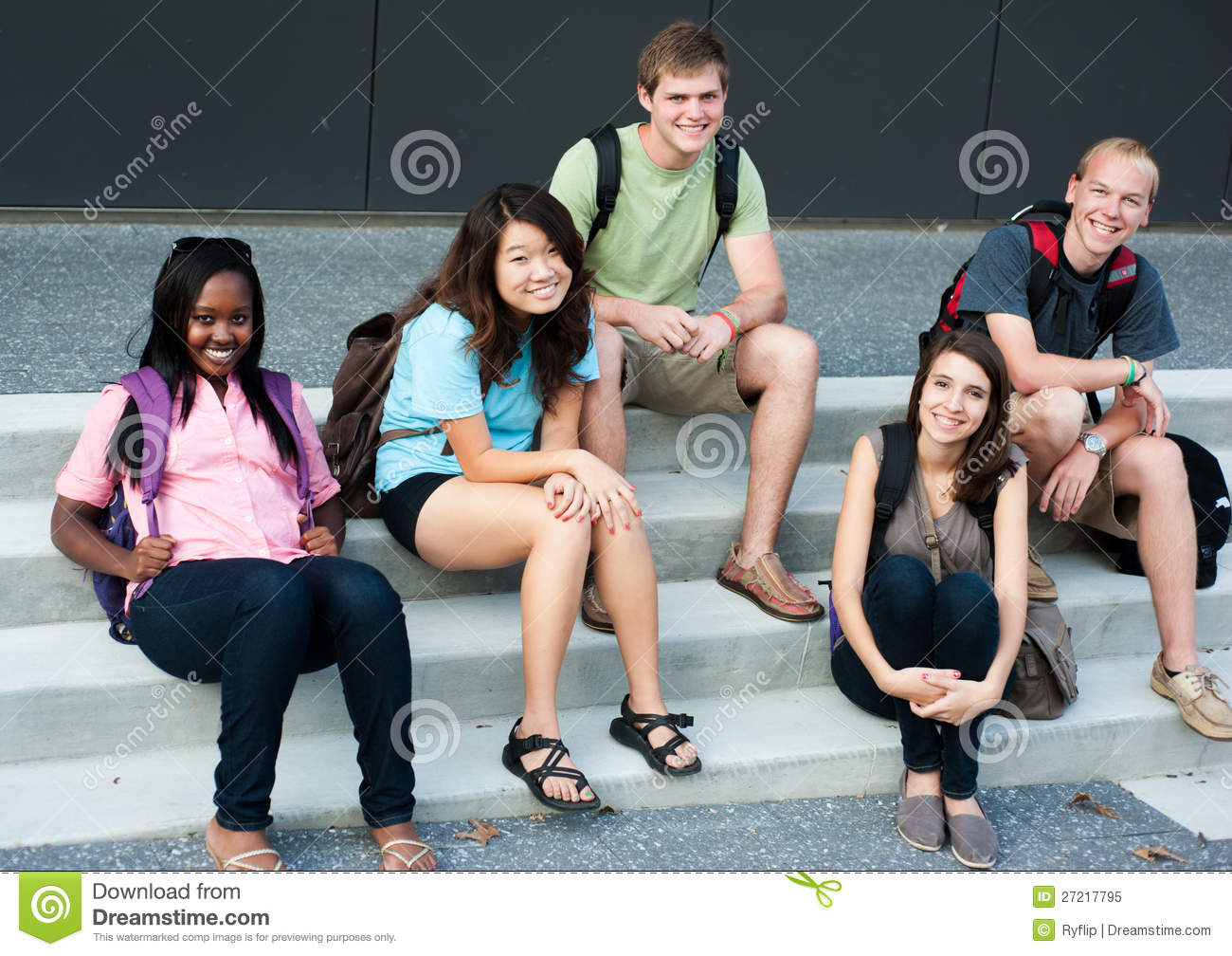 Diverse Group Of Friends Royalty Free Stock Photo - Image ...