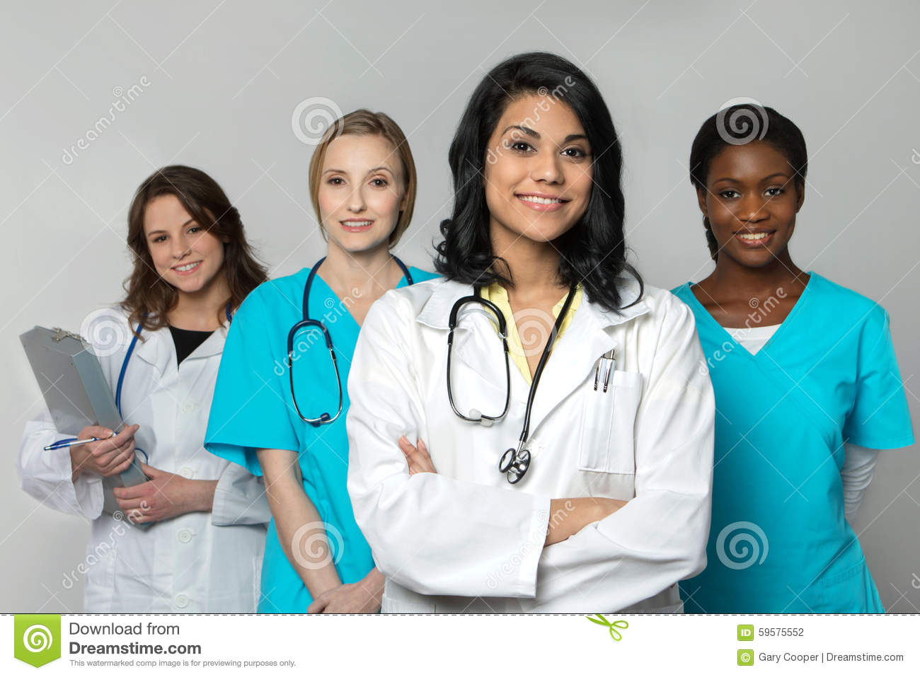 Diverse group of Health Care Professionals