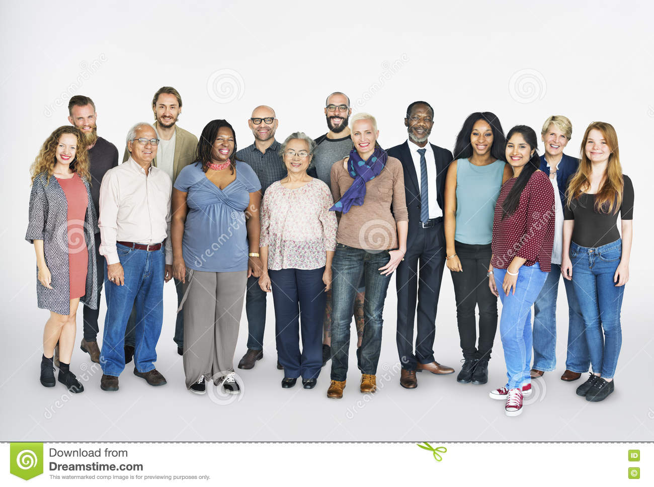 Diverse Group People Standing Concept