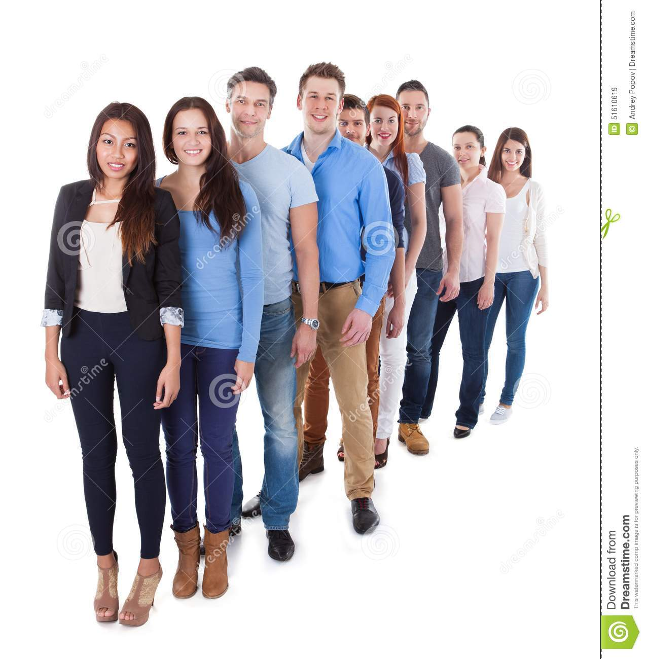 Business Group Standing In Row Royalty-Free Stock Photo