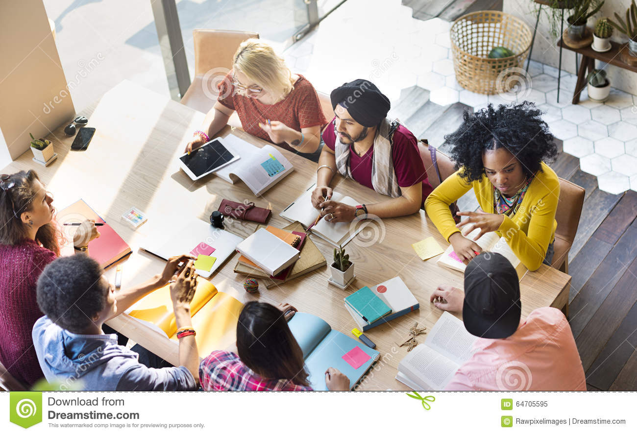 Diverse Group People Working Together Concept Stock Image Image Of