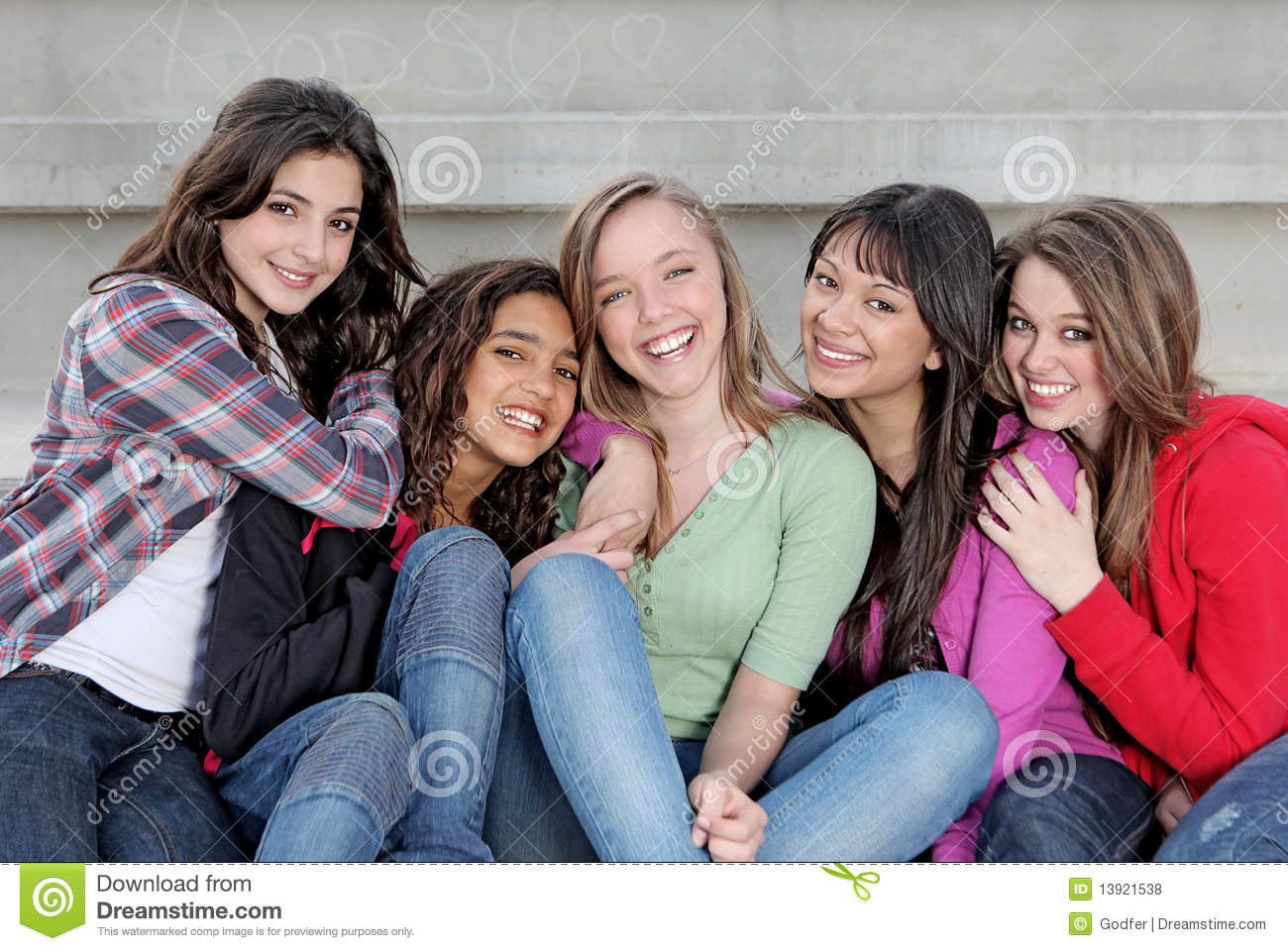 Royalty Free Diverse Teens Looking 49