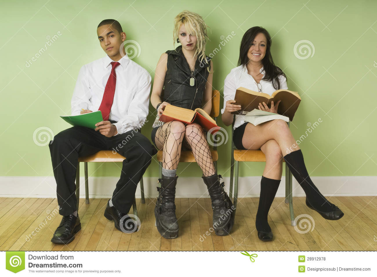Royalty Free Diverse Teens Looking 52