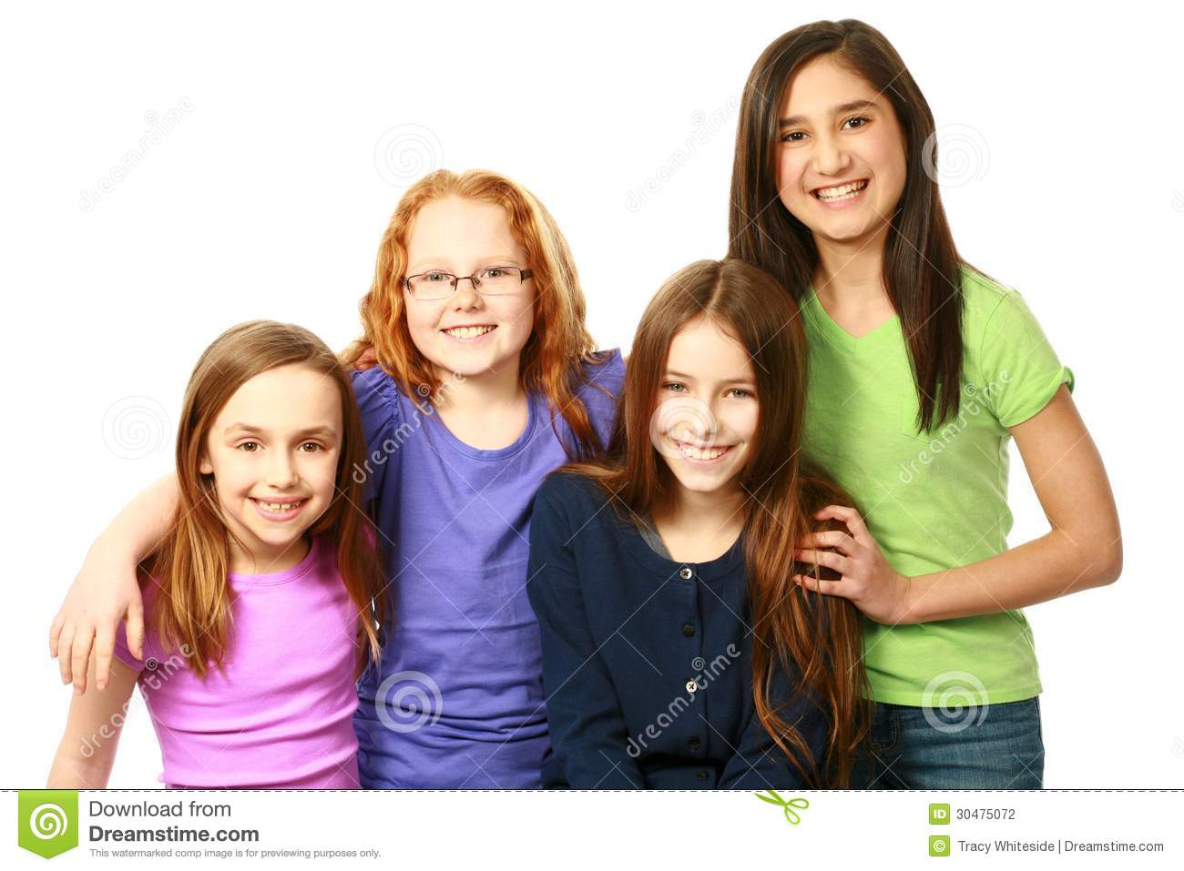 Diverse Group Of Young Girls Stock Photography Image