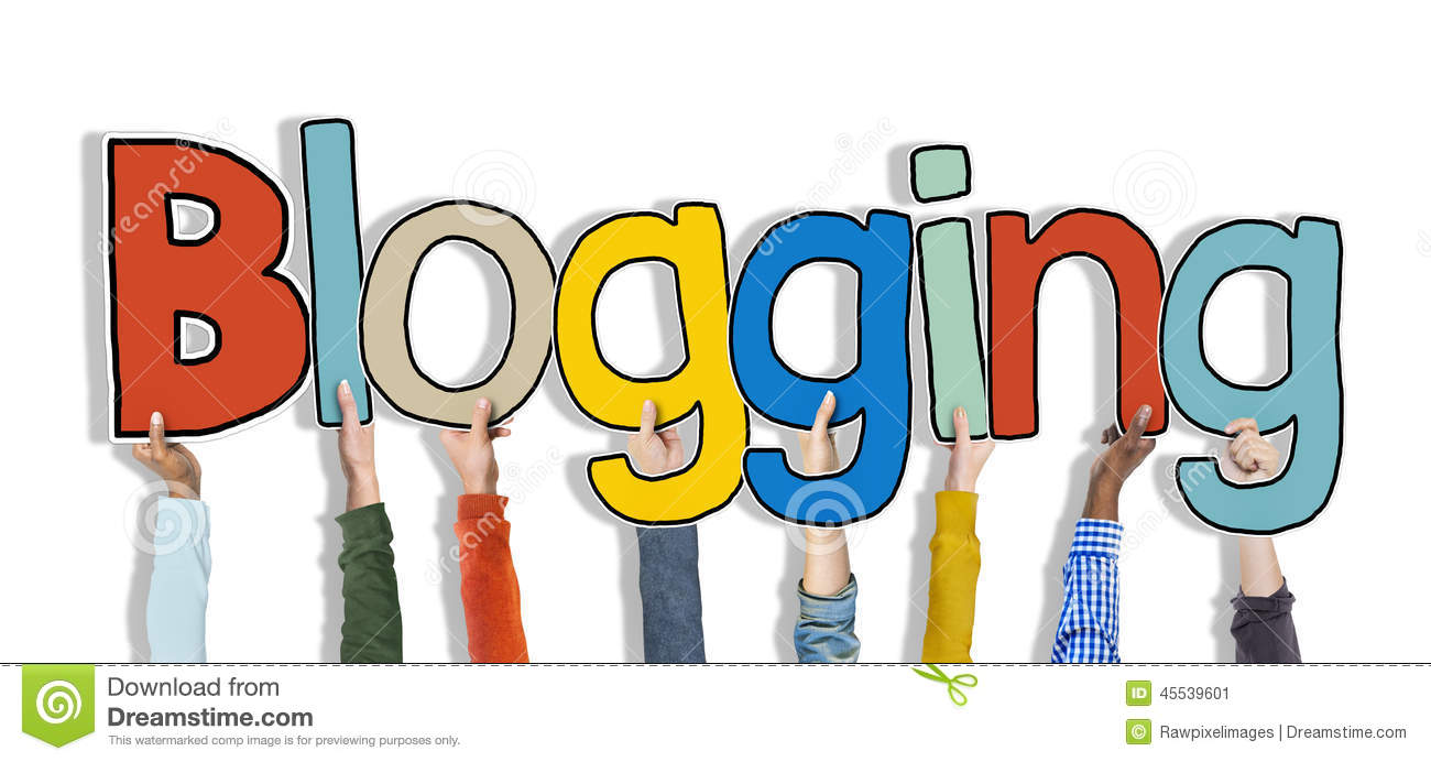 Diverse Hands Holding the Word Blogging